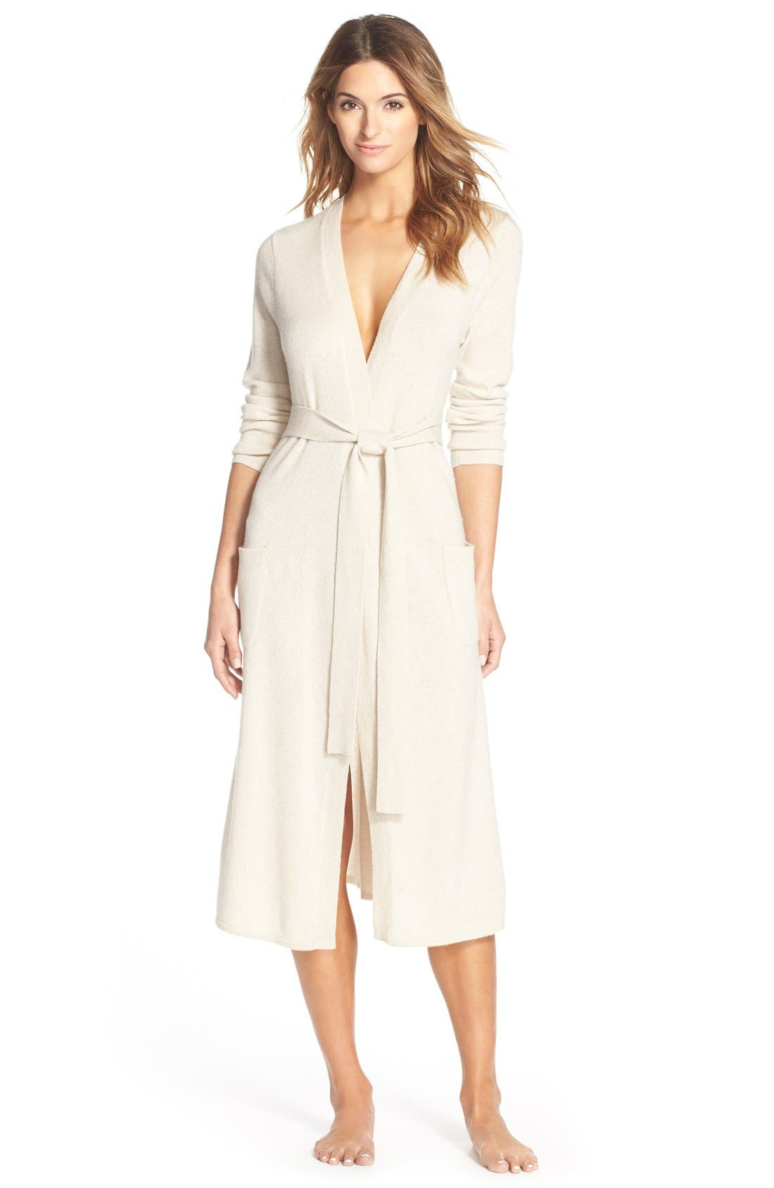 Alternate Image 1 Selected - Nordstrom Lingerie Cashmere Robe