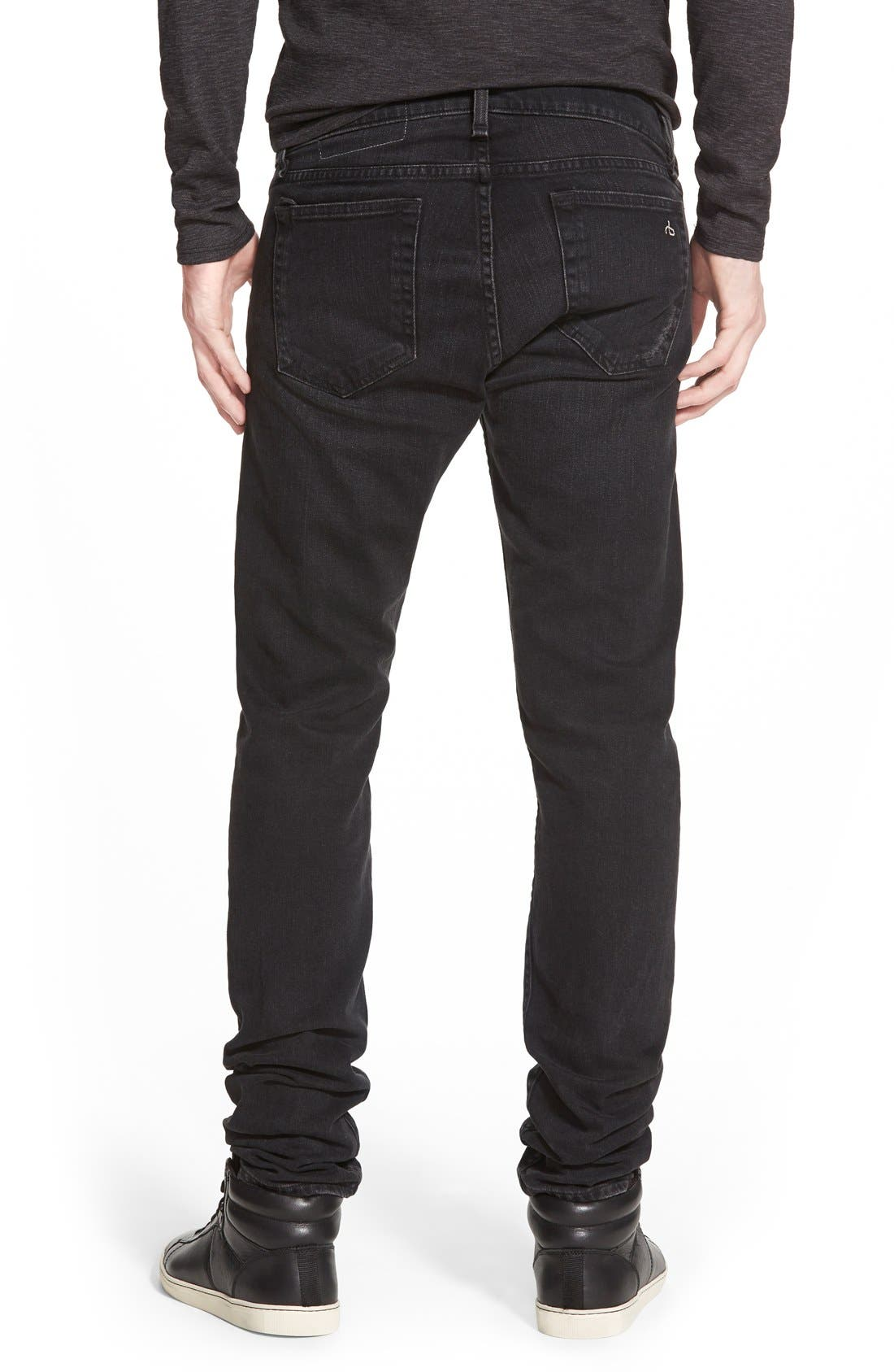 Alternate Image 2  - rag & bone Standard Issue 'Fit 1' Skinny Fit Jeans (Rock with Holes)