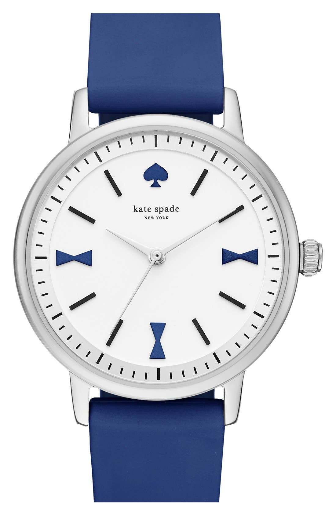 Alternate Image 1 Selected - kate spade new york'crosby' silicone strap watch, 34mm