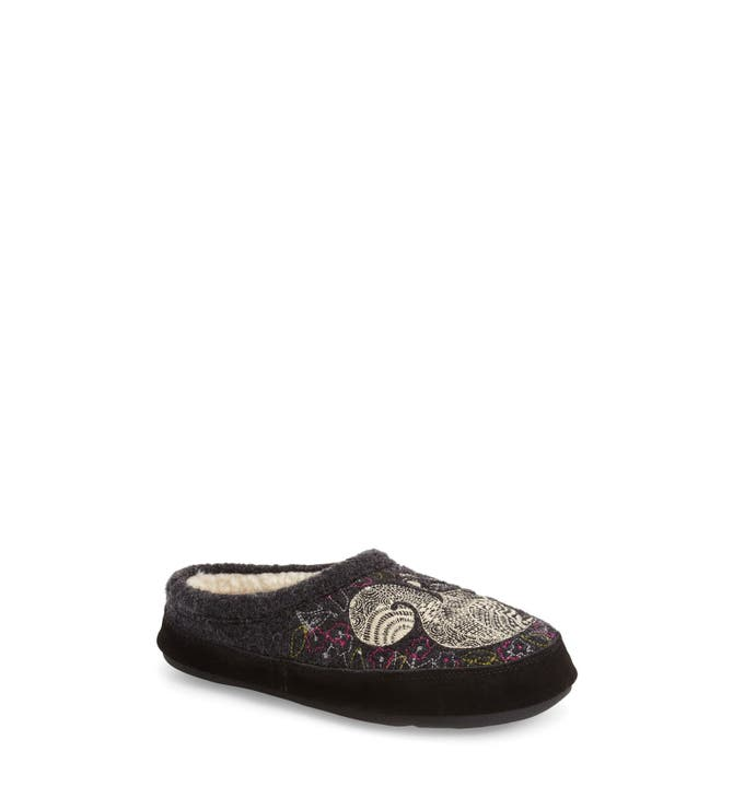 Main Image Acorn Forest Wool Mule Slipper Women