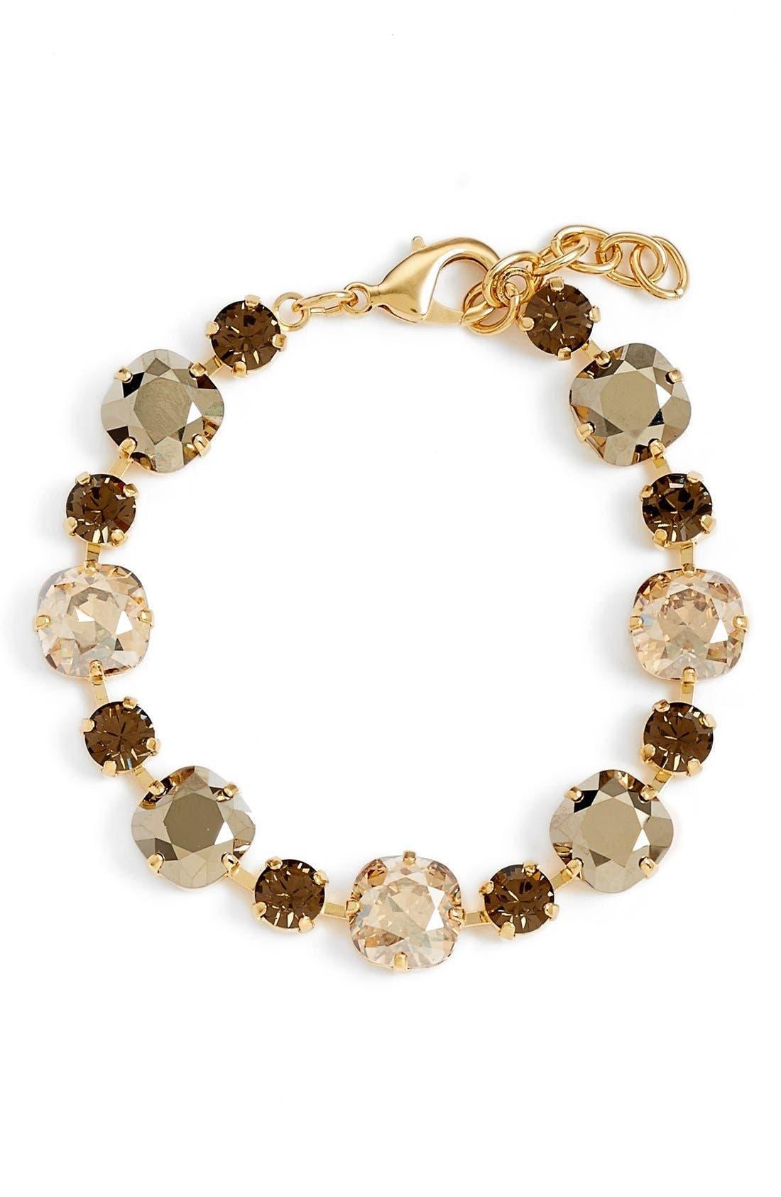 'Audrey' Multi Stone Bracelet,                             Main thumbnail 1, color,                             Cryrosegld/ Topaz/ Top/ Gold