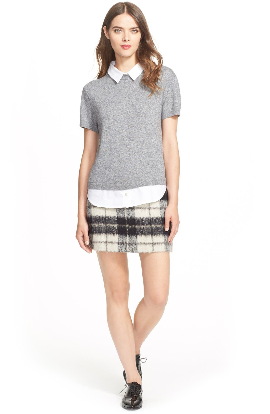Alternate Image 2  - kate spade new york 'woodland check' plaid miniskirt
