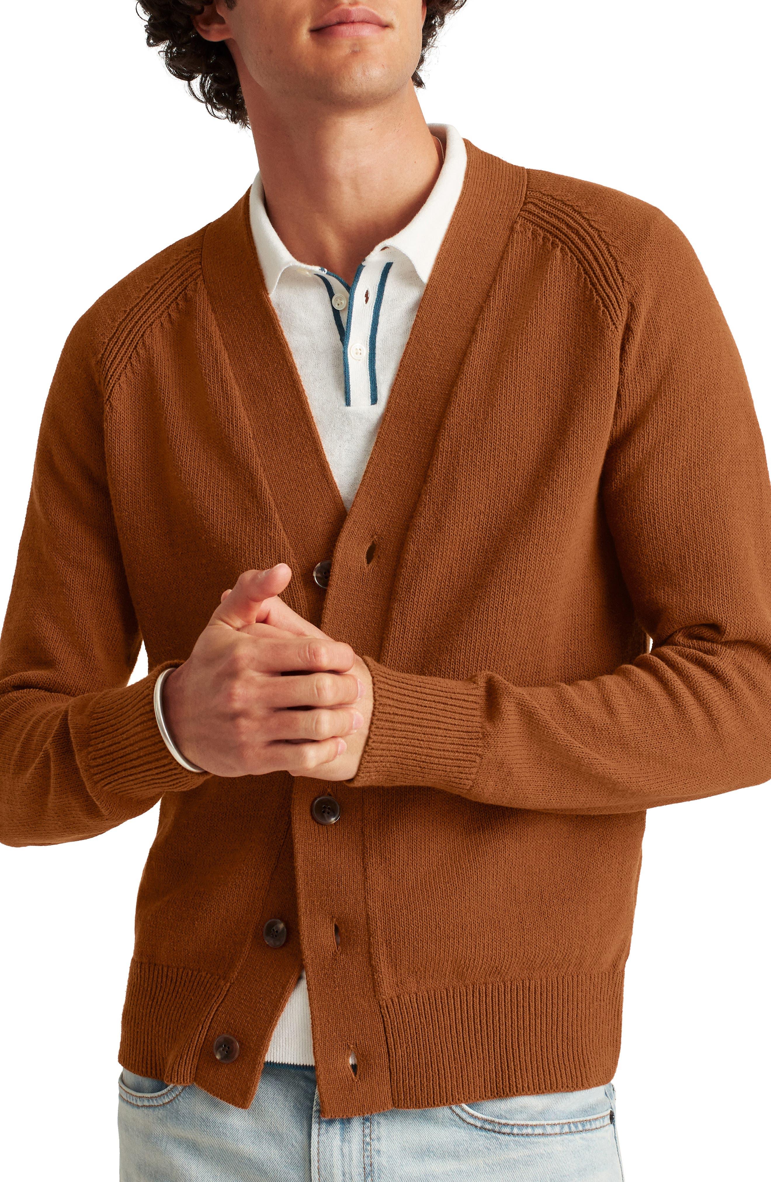 Mens Knit Cardigan Zip Hoodie Sweatshirt Knitwear various colors
