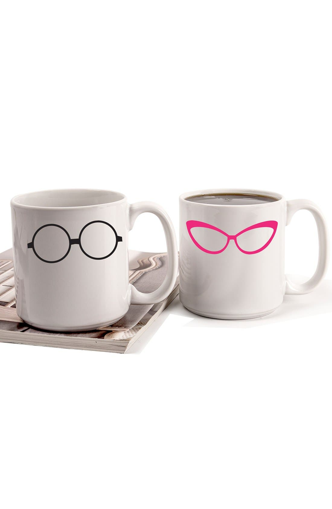 Alternate Image 3  - Cathy's Concepts 'Geek Glasses' Ceramic Coffee Mugs (Set of 2)