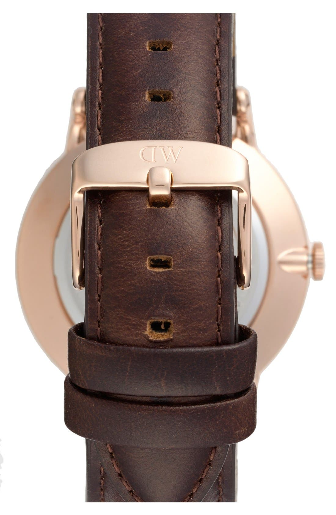 Alternate Image 2  - Daniel Wellington 'Dapper Bristol' Leather Strap Watch, 38mm