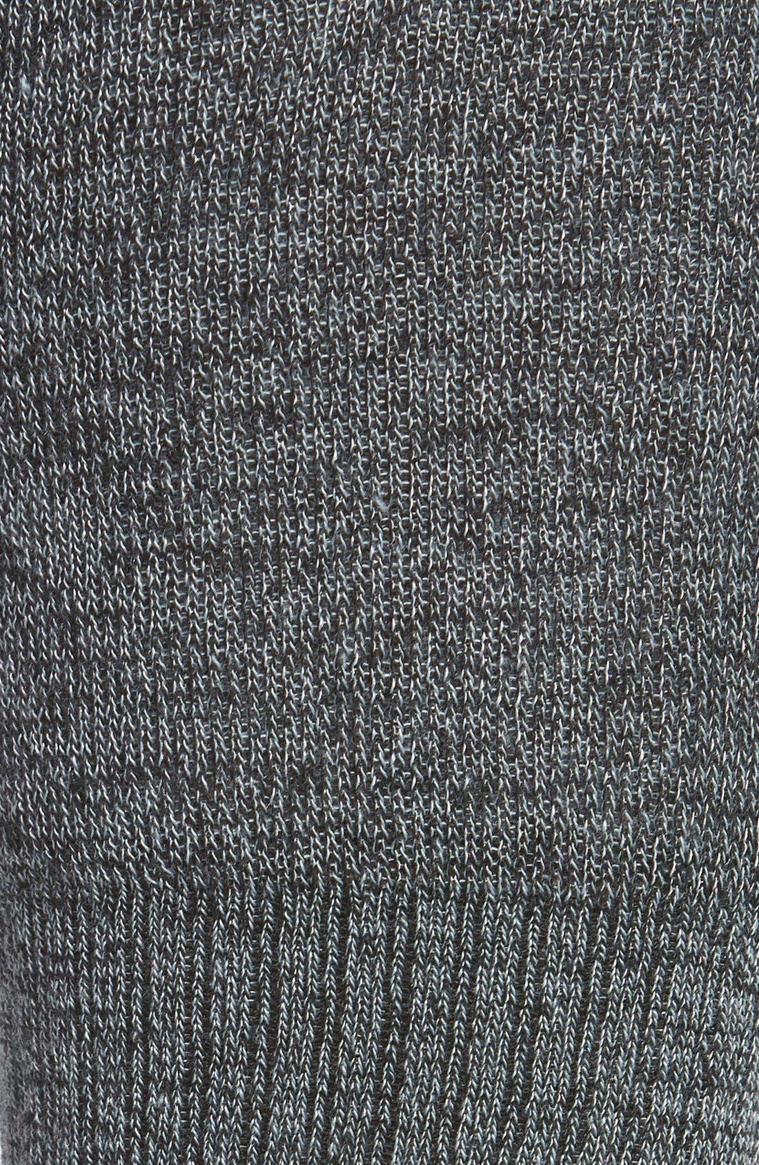 Alternate Image 2  - kensie Stripe Cuff Knee High Socks