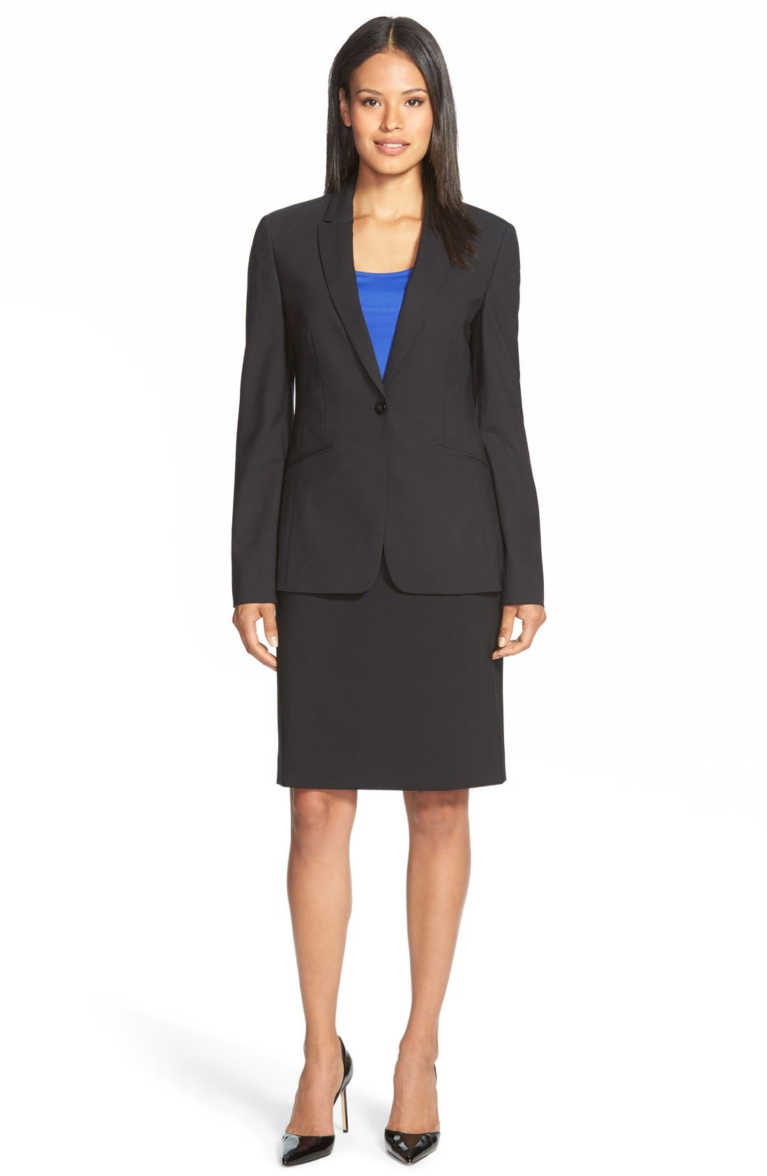 Alternate Image 2  - BOSS Vilea Stretch Wool Pencil Skirt (Regular & Petite)