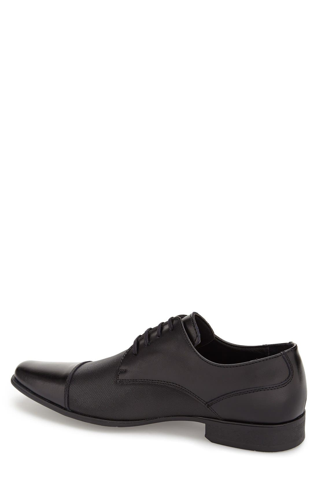 'Bram' Cap Toe Derby,                             Alternate thumbnail 2, color,                             Black