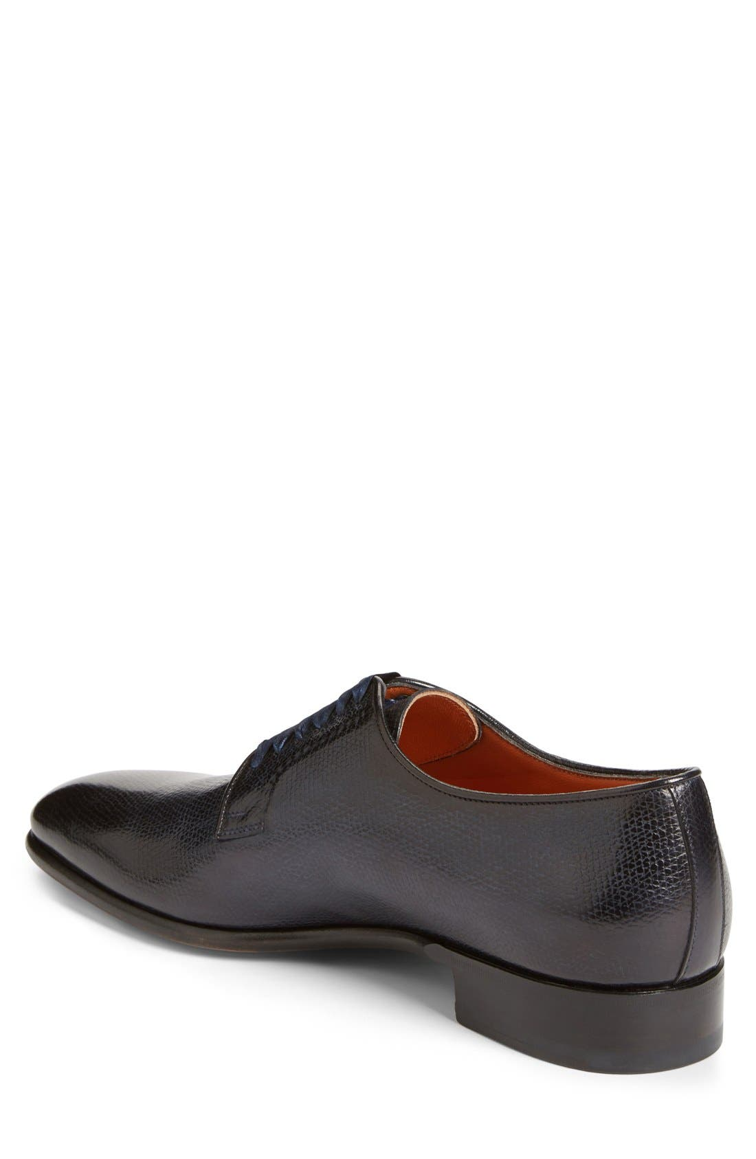 'Chelsey' Plain Toe Oxford,                             Alternate thumbnail 2, color,                             Navy Leather