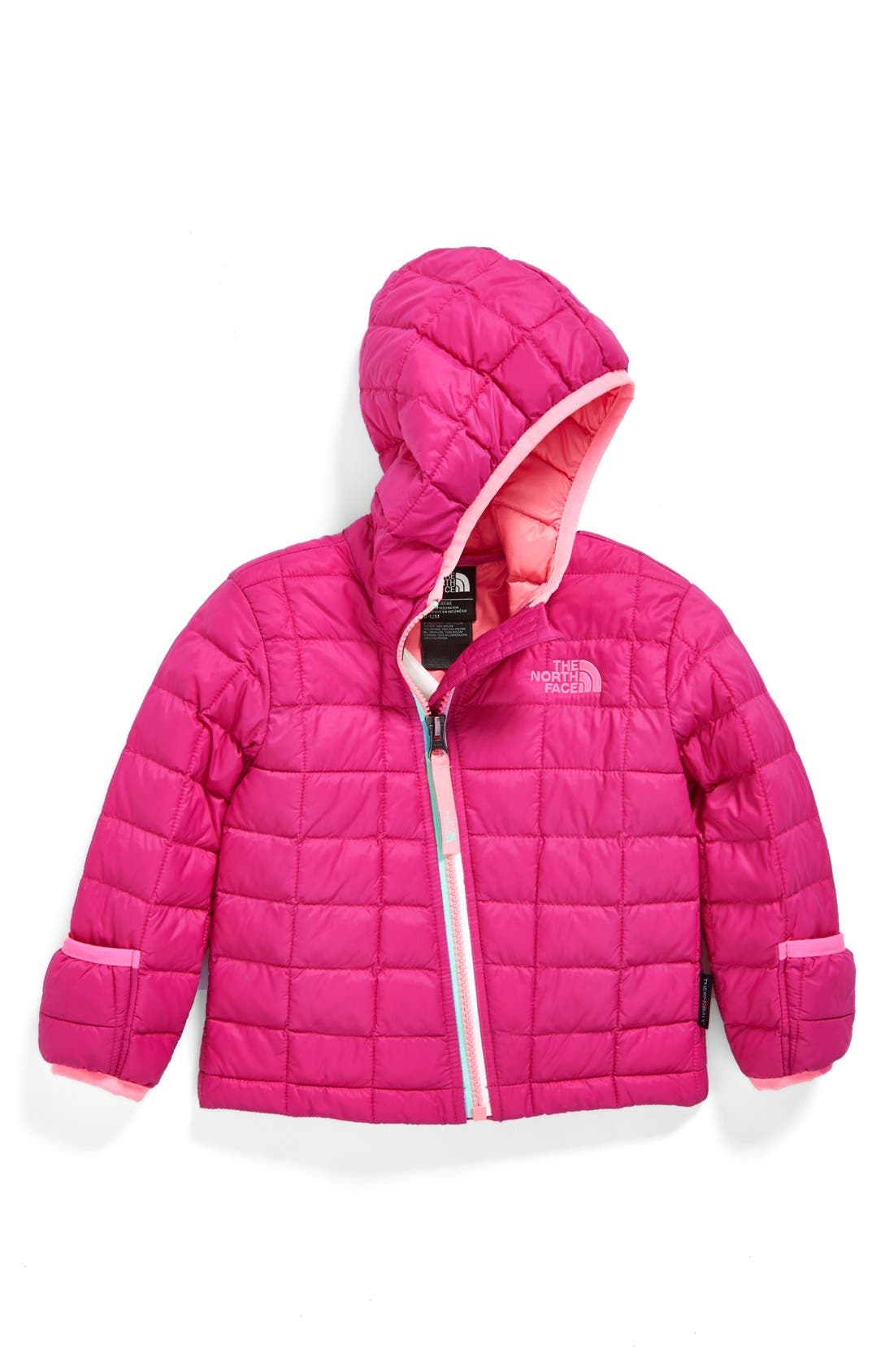 Main Image - The North Face ThermoBall™ PrimaLoft® Hoodie Jacket (Baby Girls)