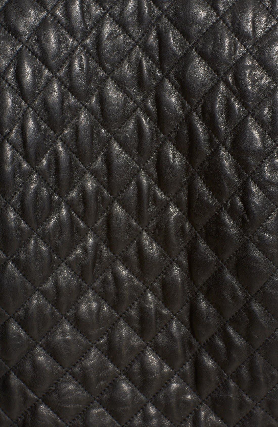 Alternate Image 3  - Eleventy Diamond Quilted Leather Jacket
