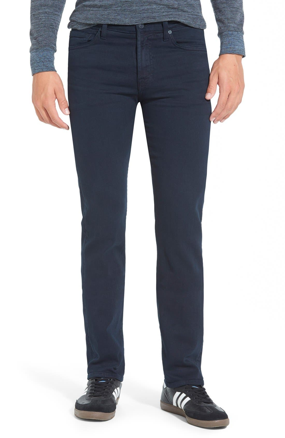 Alternate Image 1 Selected - 7 For All Mankind® 'Slimmy - Luxe Performance' Slim Fit Jeans (Night Navy)