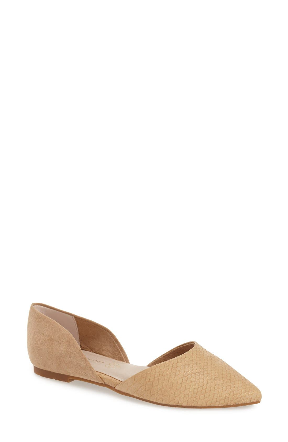 Alternate Image 1 Selected - BC Footwear 'Society' d'Orsay Flat (Women)