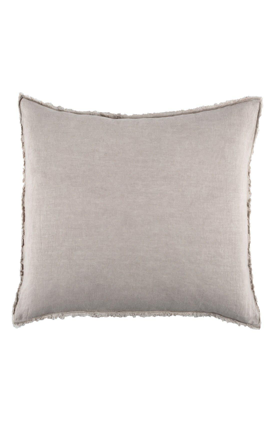 'Blair' Linen Euro Pillow Sham,                             Main thumbnail 1, color,                             Taupe