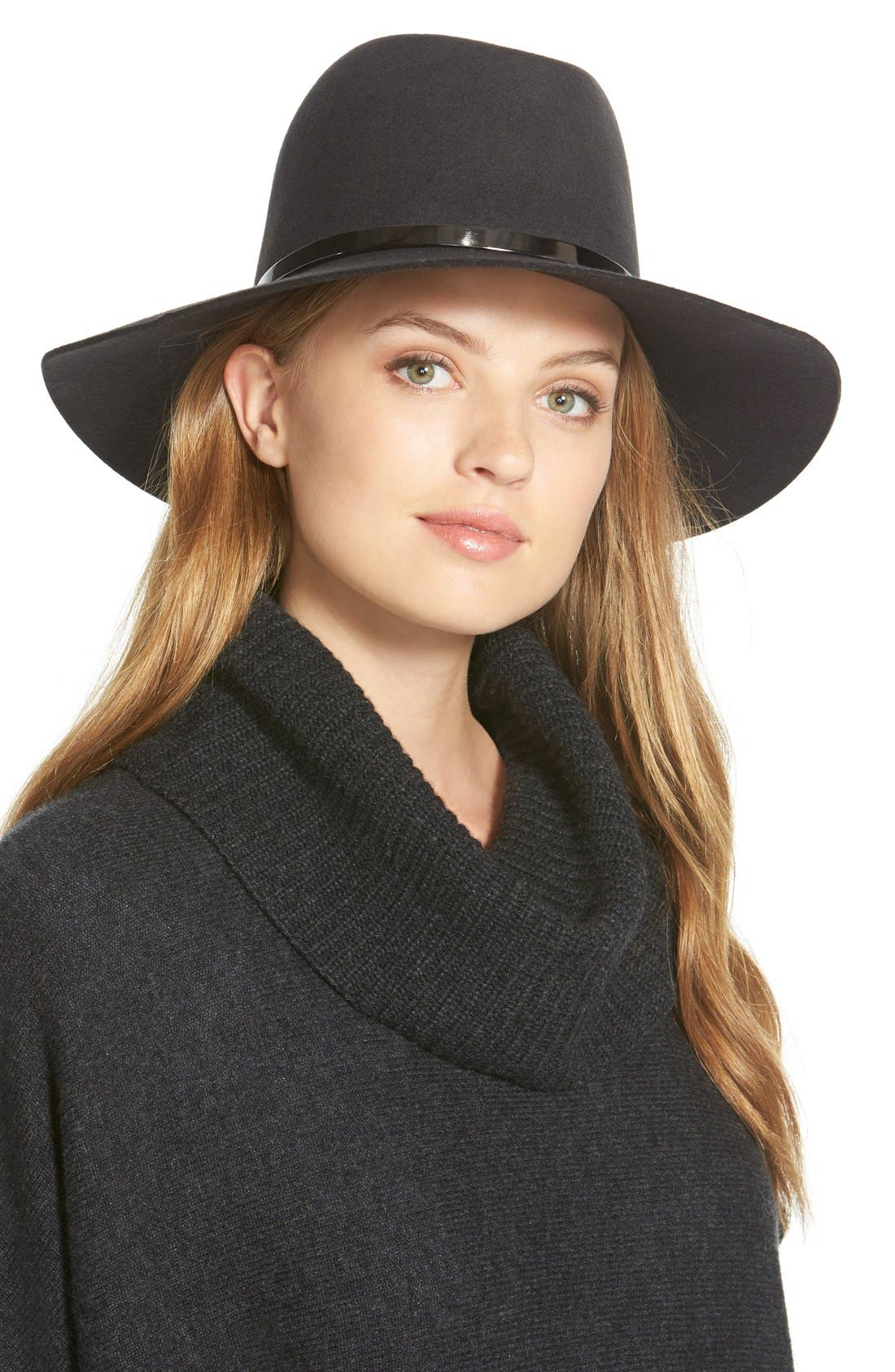 Alternate Image 1 Selected - Janessa Leone 'Slate' Floppy Wool Felt Hat