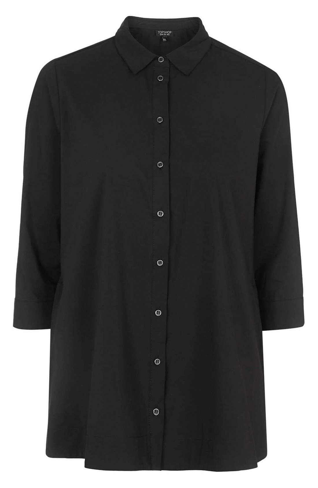 Alternate Image 3  - Topshop Oversize Poplin Shirt