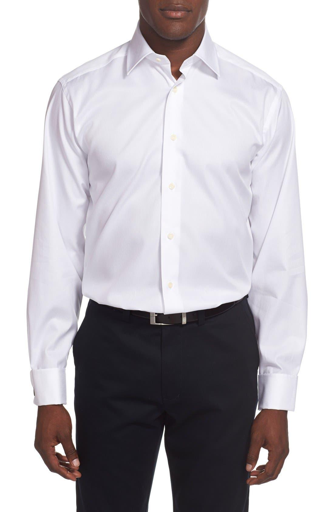 Alternate Image 2  - David Donahue French Cuff Regular Fit Dress Shirt
