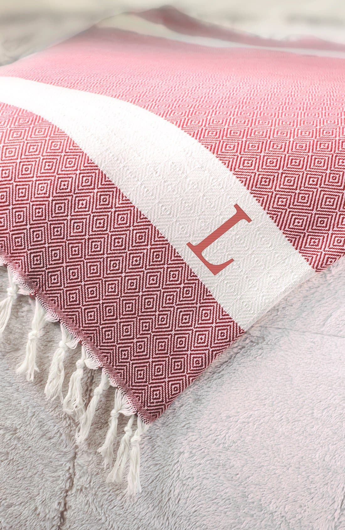 Alternate Image 2  - Cathy's Concepts Monogram Turkish Cotton Throw