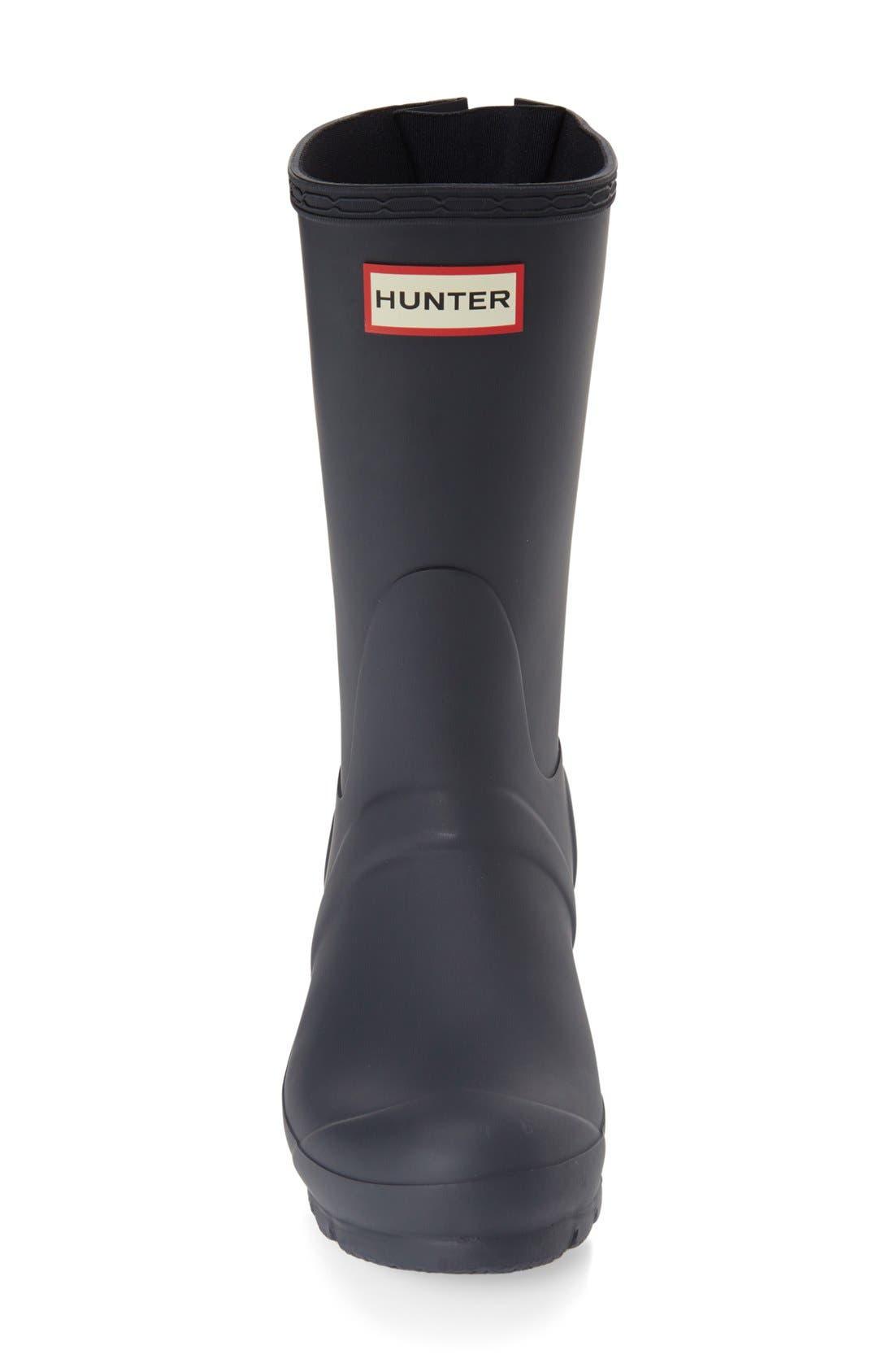 Original Short Back Adjustable Rain Boot,                             Alternate thumbnail 3, color,                             Navy