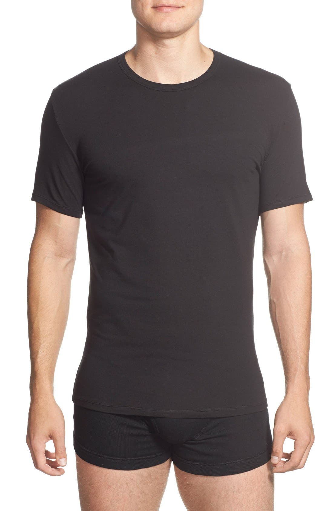 Alternate Image 1 Selected - Calvin Klein 2-Pack Stretch Cotton Crewneck T-Shirt