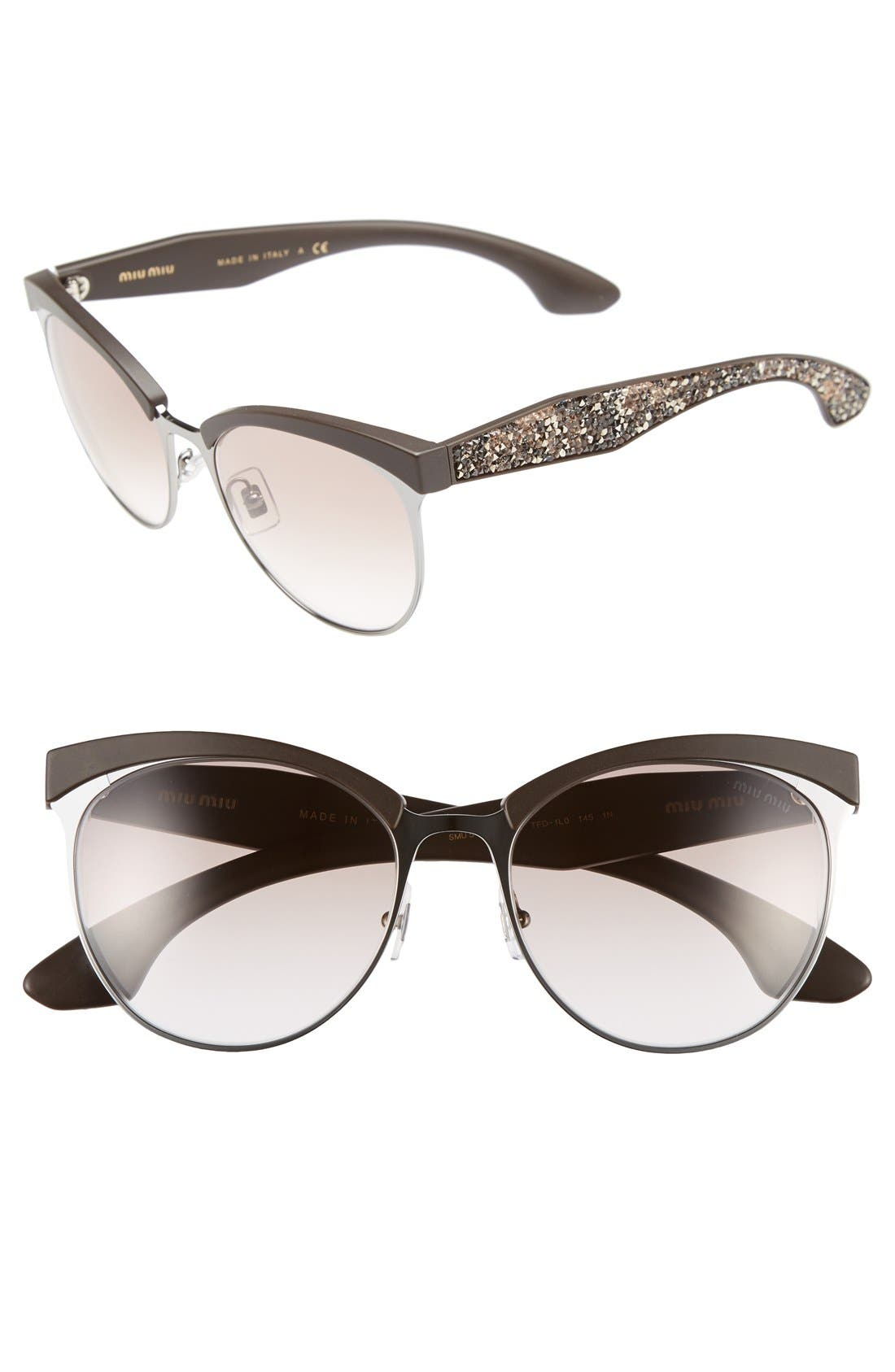 Main Image - Miu Miu 56mm Pavé Cat Eye Sunglasses