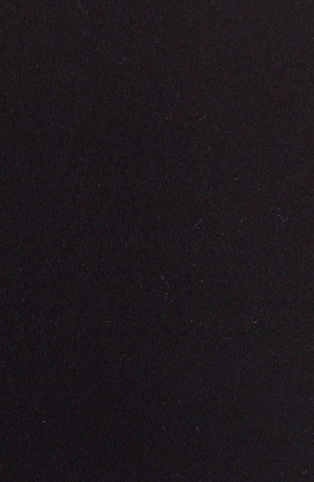 'Ballet Body' Bodysuit,                             Alternate thumbnail 3, color,                             Black