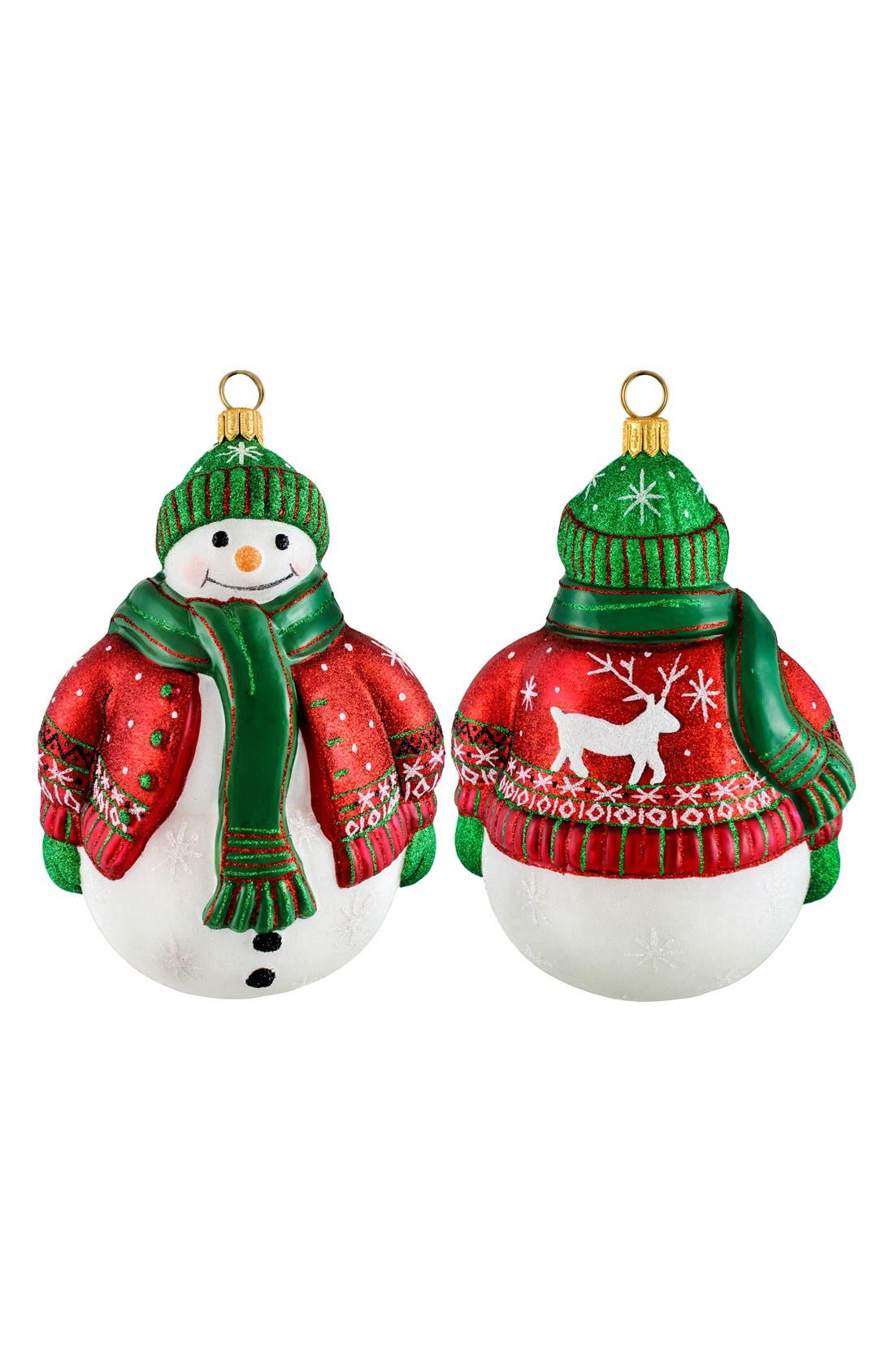 Alternate Image 1 Selected - Joy to the World Collectibles 'Glitterazzi' Snowman Ornament