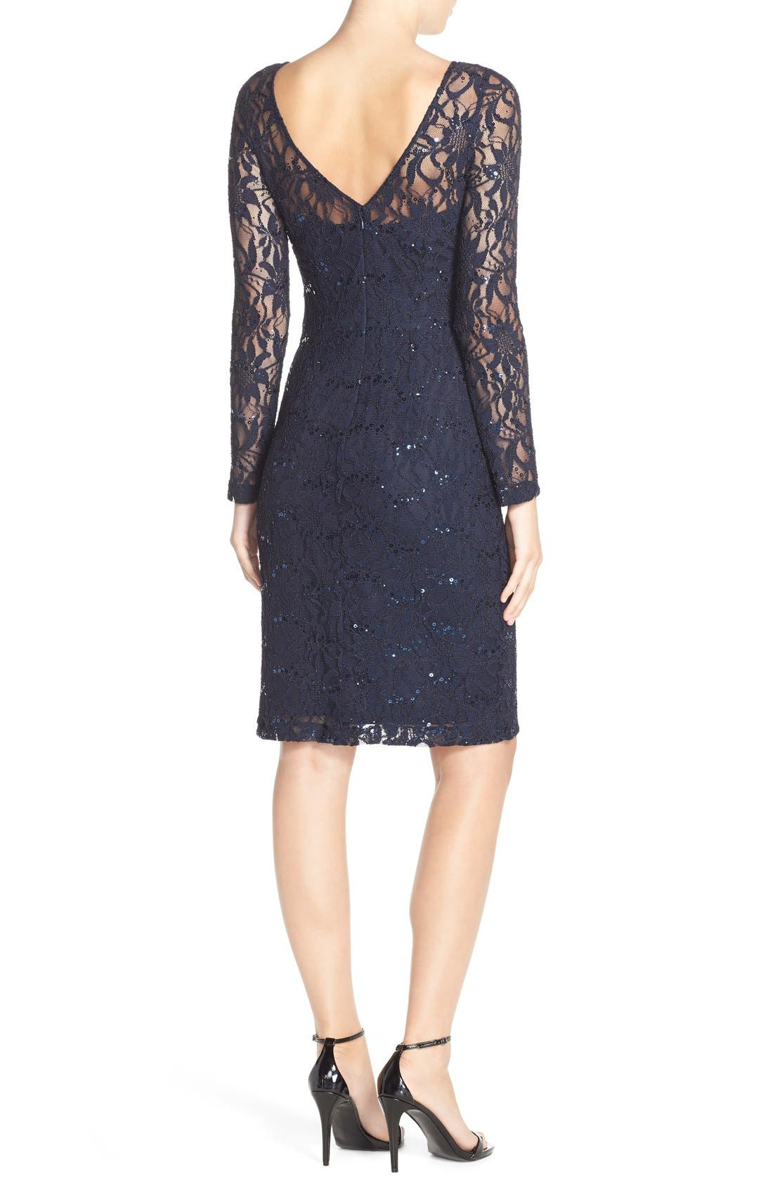 Alternate Image 2  - JS Collections Illusion Lace Dress