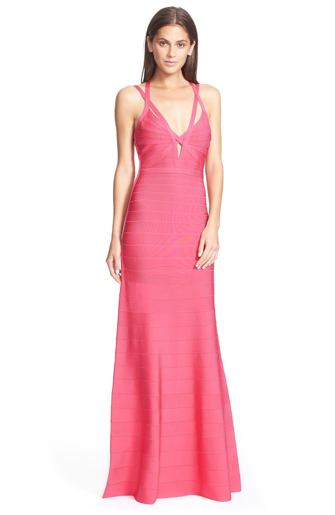 Alternate Image 1 Selected - HerveLeger 'Adalet' Mermaid Bandage Gown