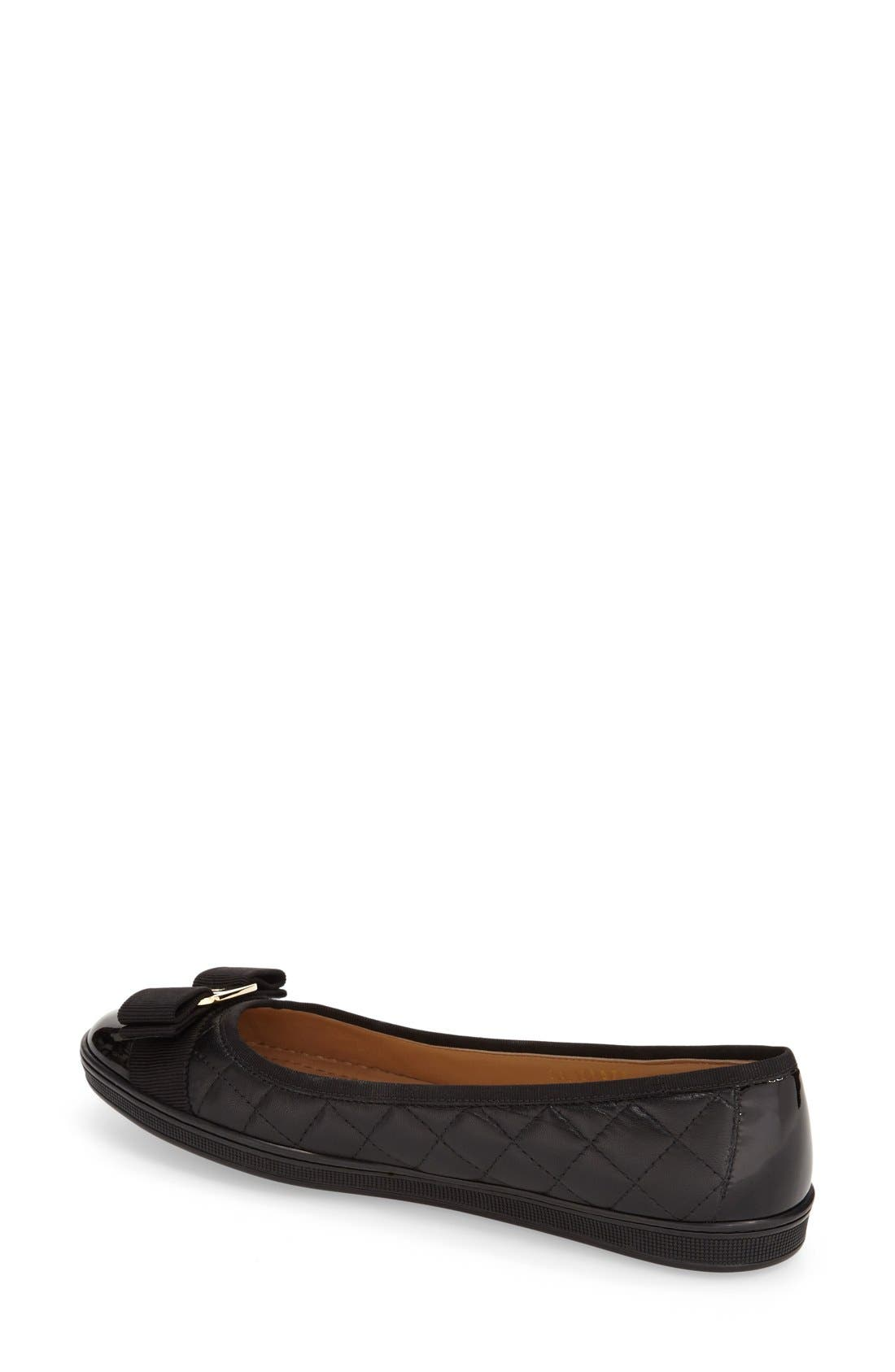Alternate Image 2  - Salvatore Ferragamo Quilted Skimmer Flat (Women)