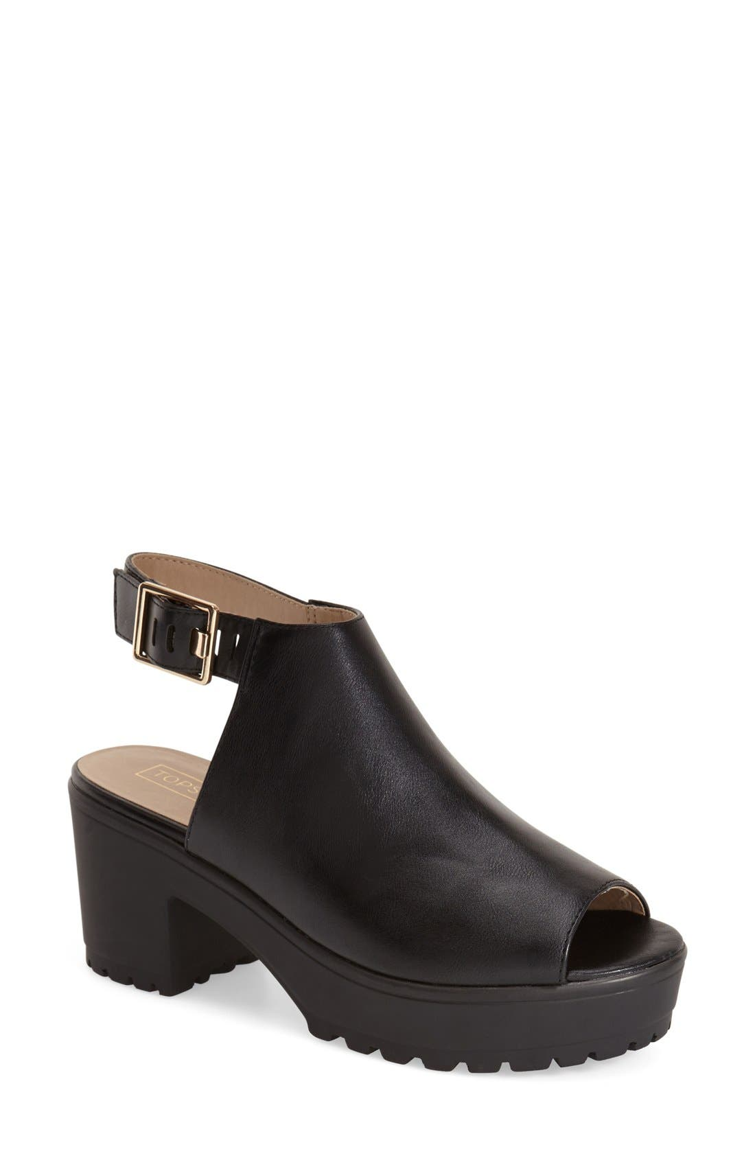 Alternate Image 1 Selected - Topshop 'Bat Cleated' Slingback Sandal (Women)