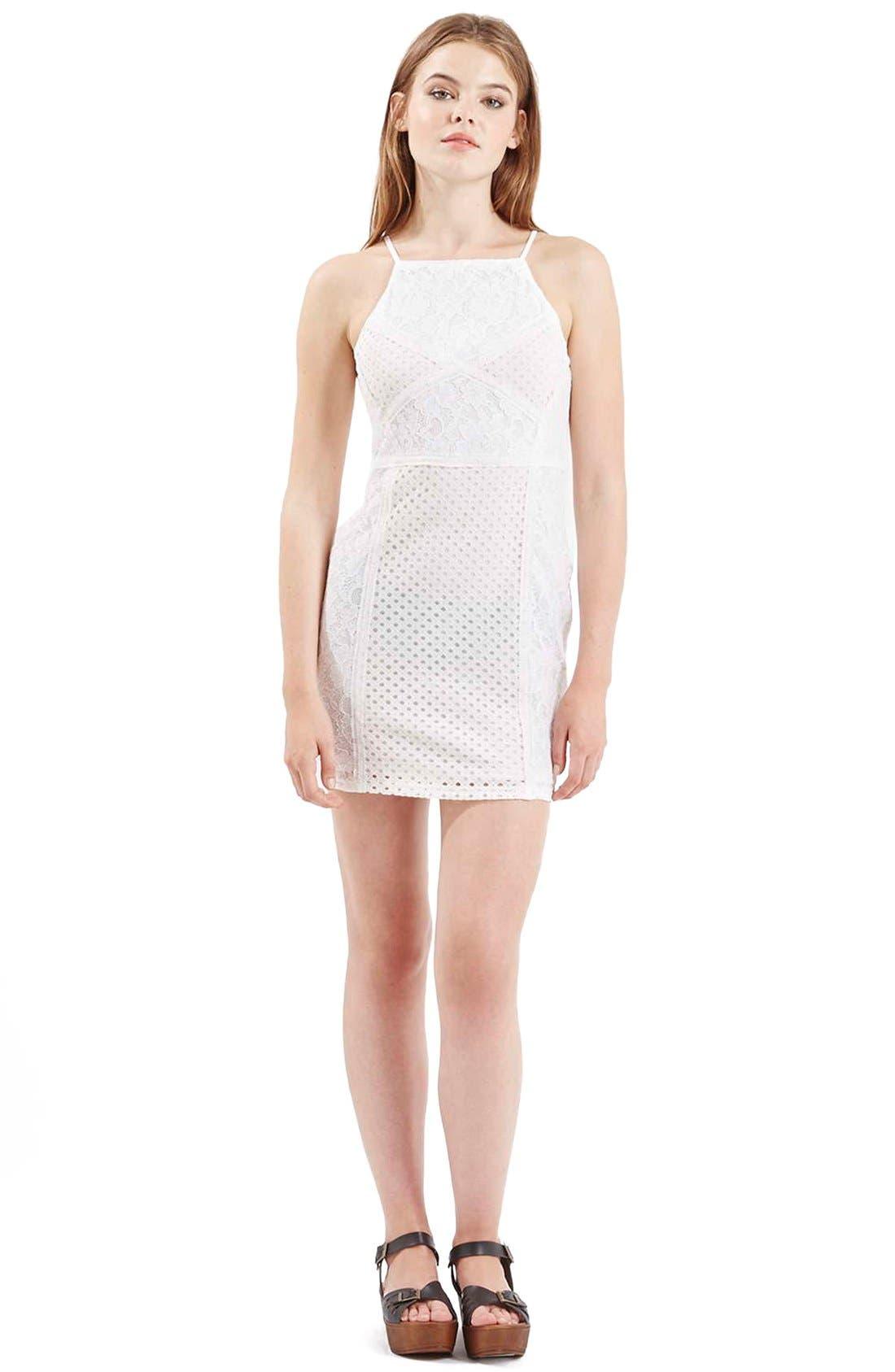 Alternate Image 2  - TopshopLace Body-Con Dress (Petite)