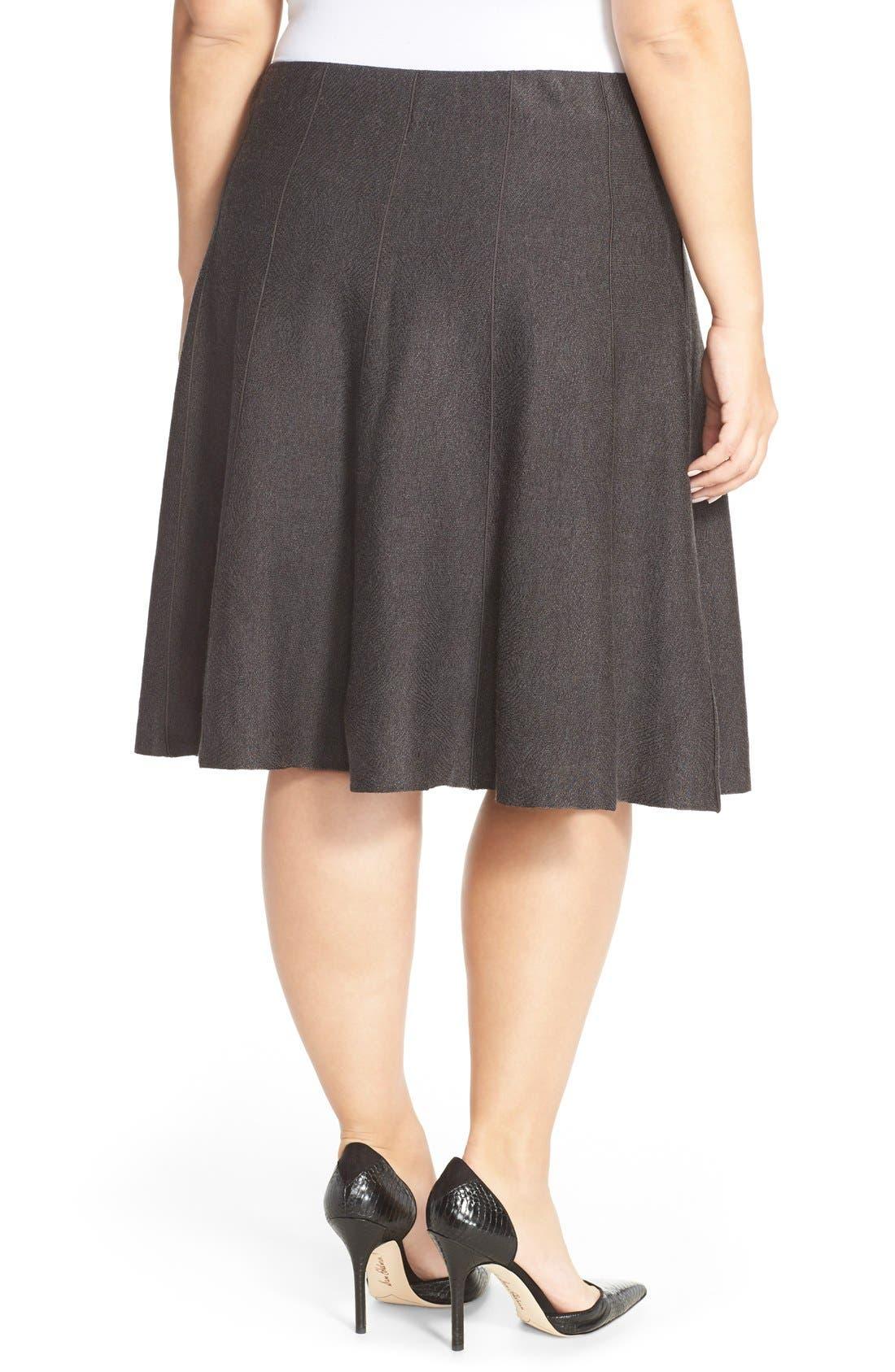 'Twirl Flirt' Paneled Skirt,                             Alternate thumbnail 2, color,                             Mushroom