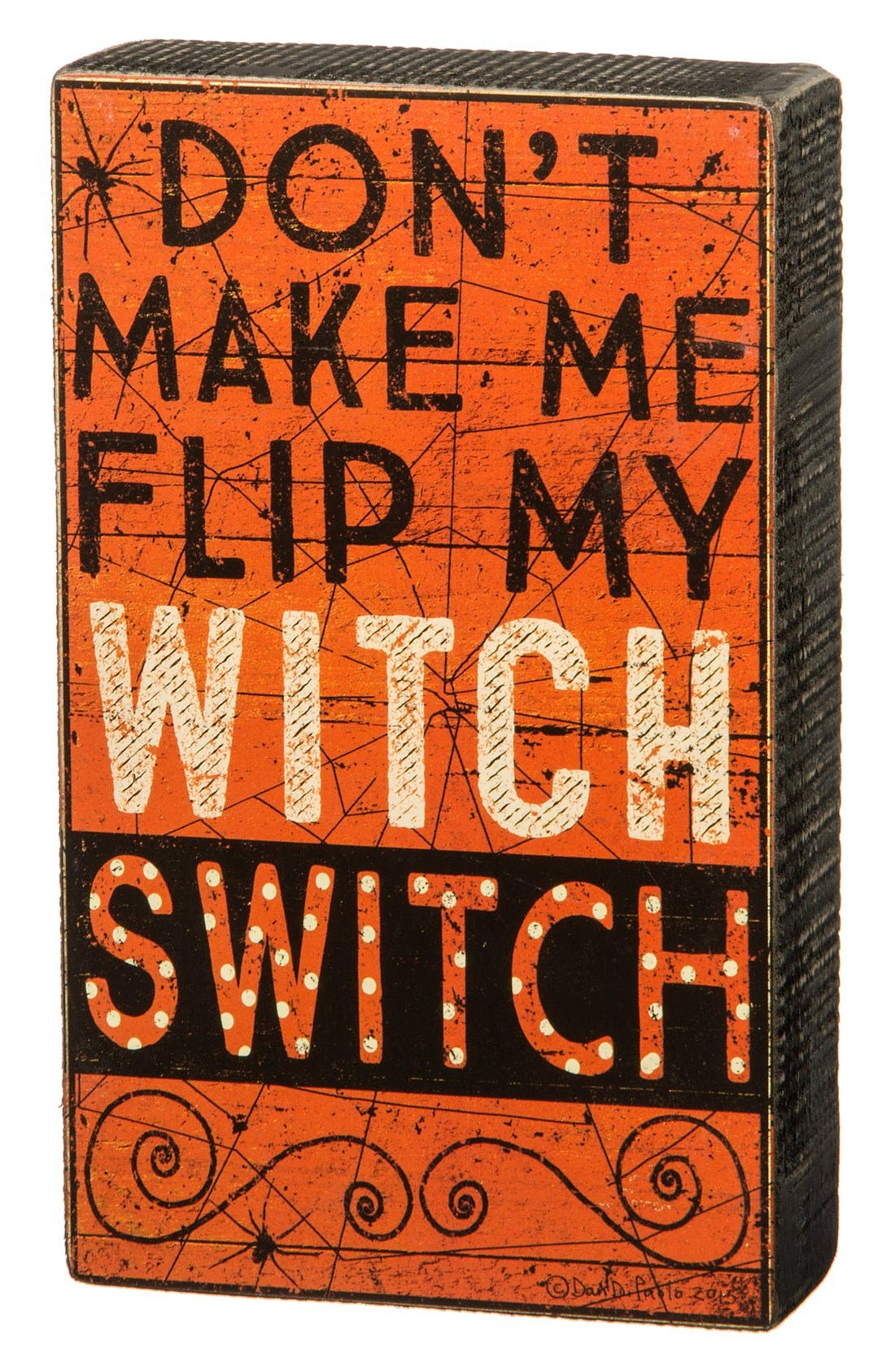 Main Image - Primitives by Kathy 'Don't Make Me Flip My Witch Switch' Box Sign