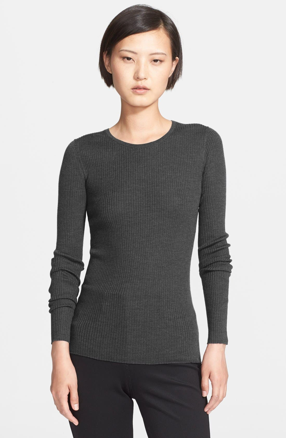 Alternate Image 1 Selected - Theory 'Mirzi' Rib Knit Merino Wool Sweater