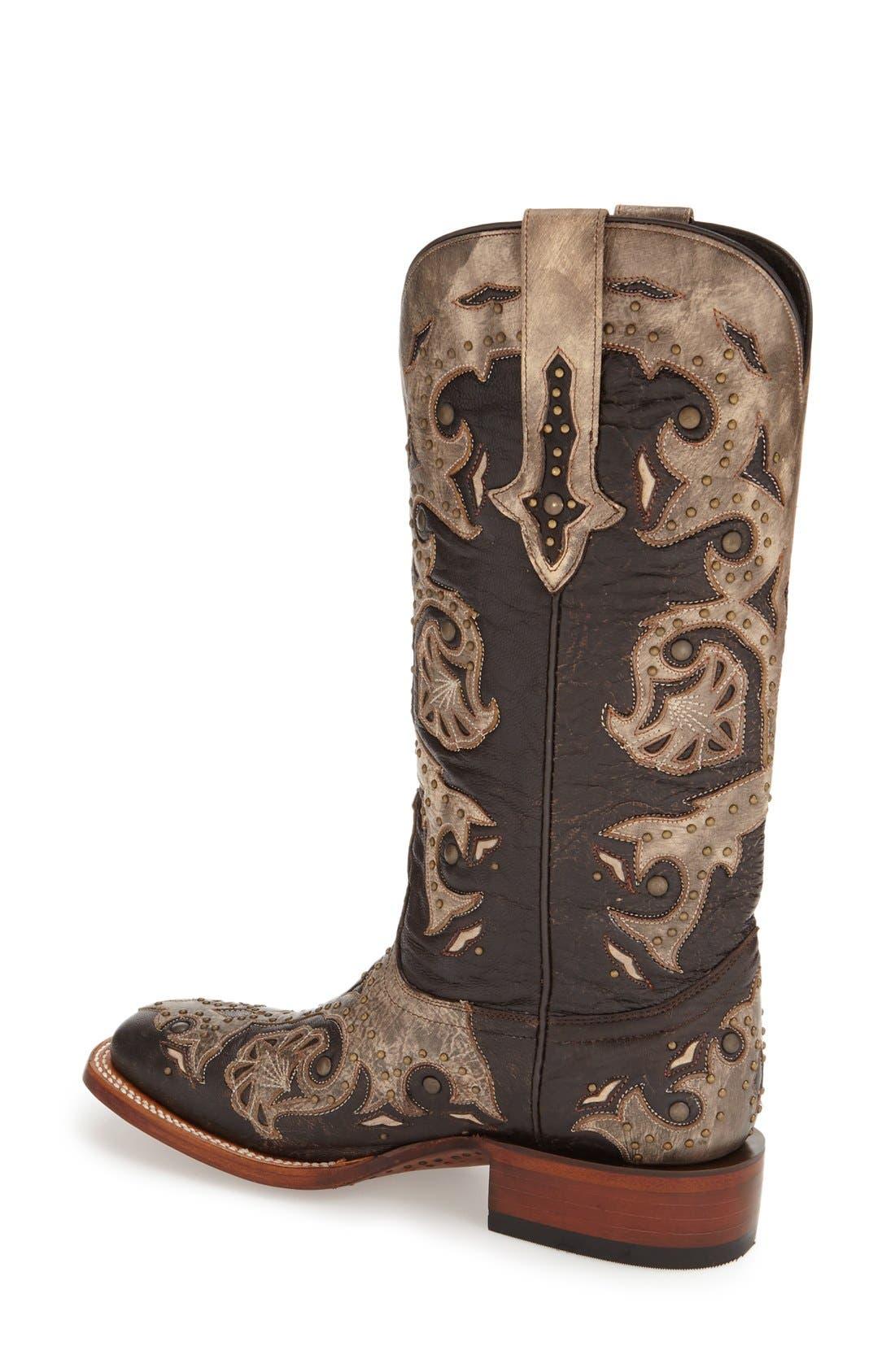 Alternate Image 2  - LuccheseStudded Western Boot (Women)