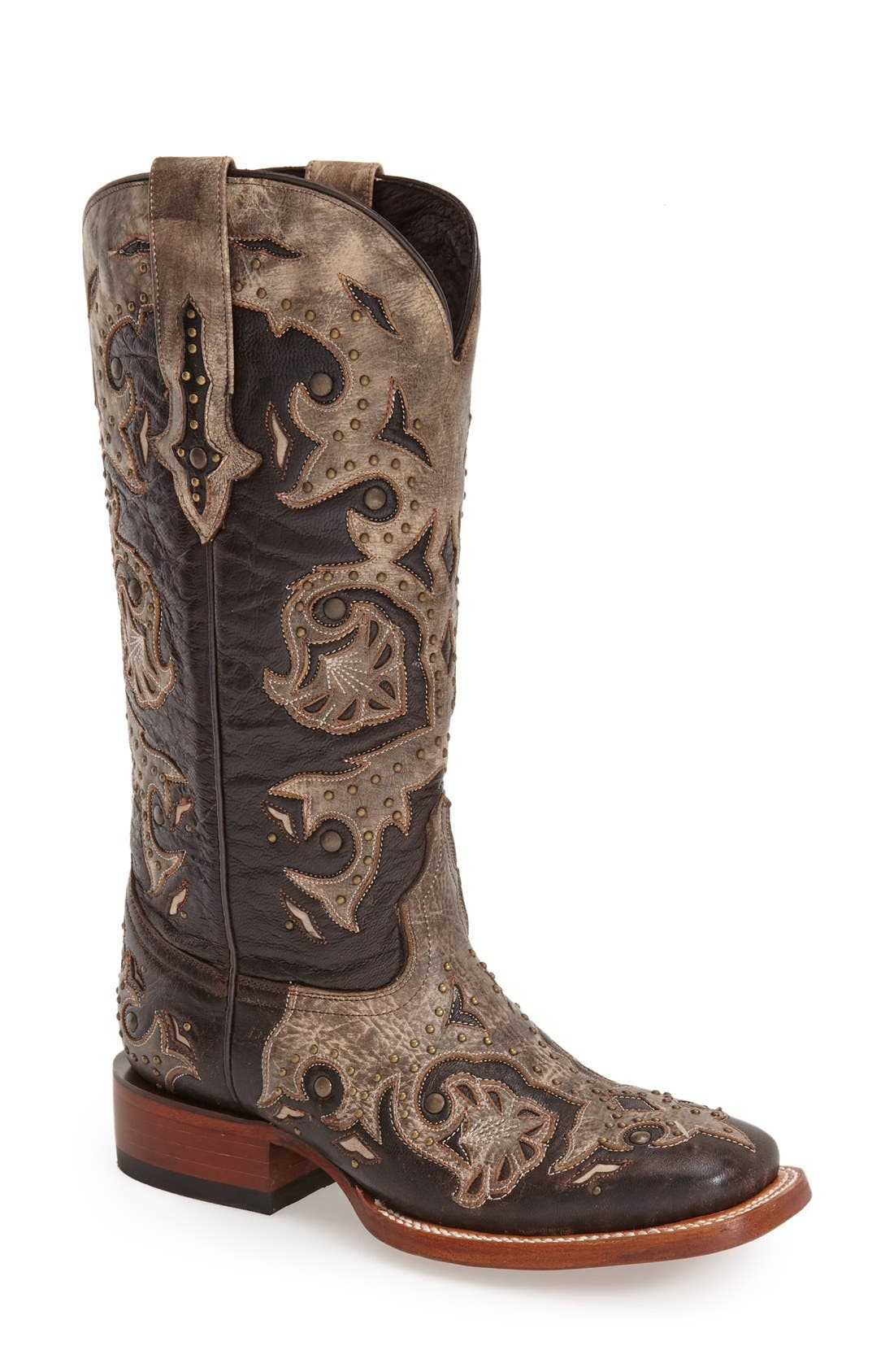 Alternate Image 1 Selected - LuccheseStudded Western Boot (Women)