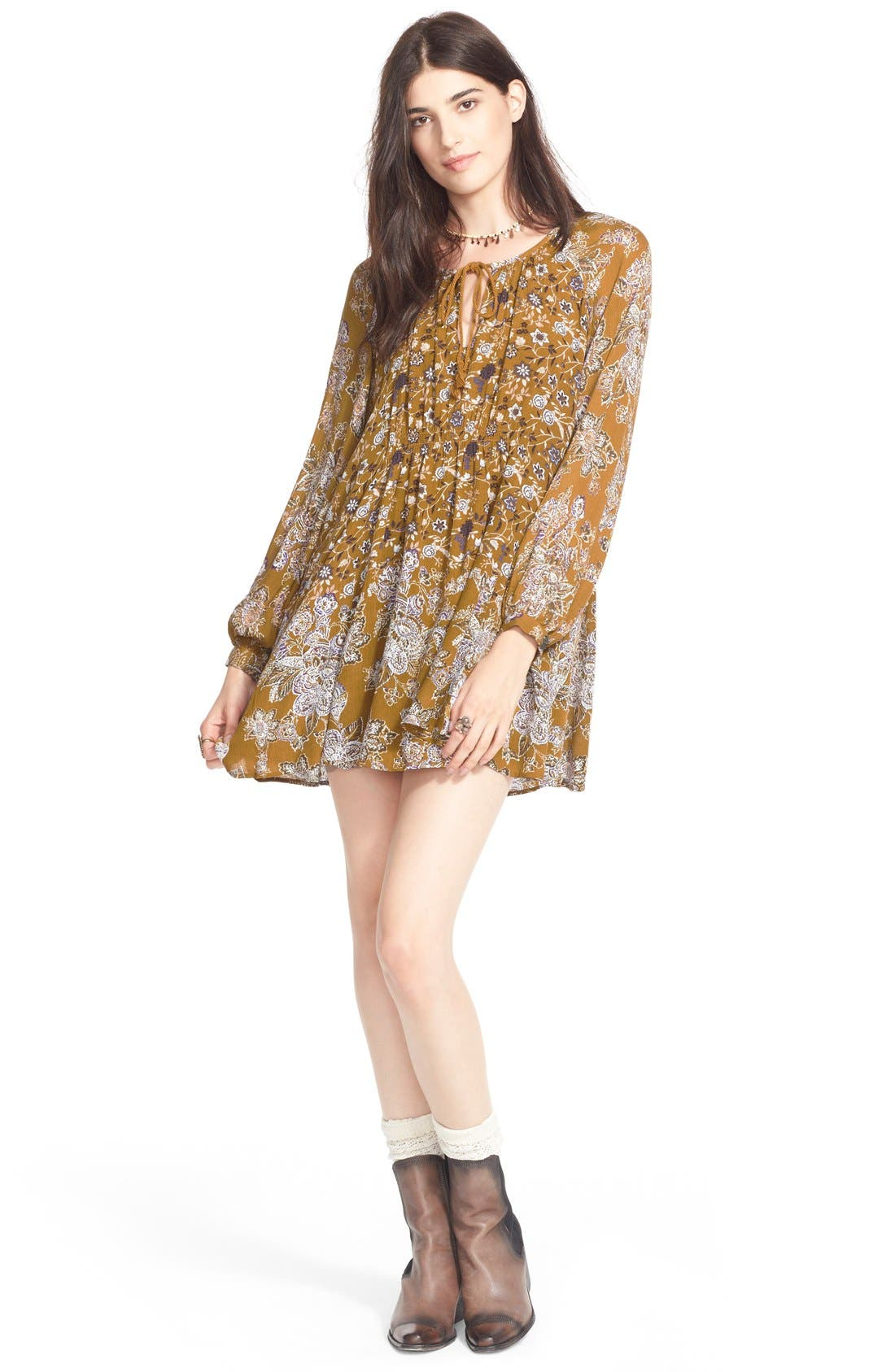 Alternate Image 1 Selected - Free People 'Lucky Loosie' Swing Dress