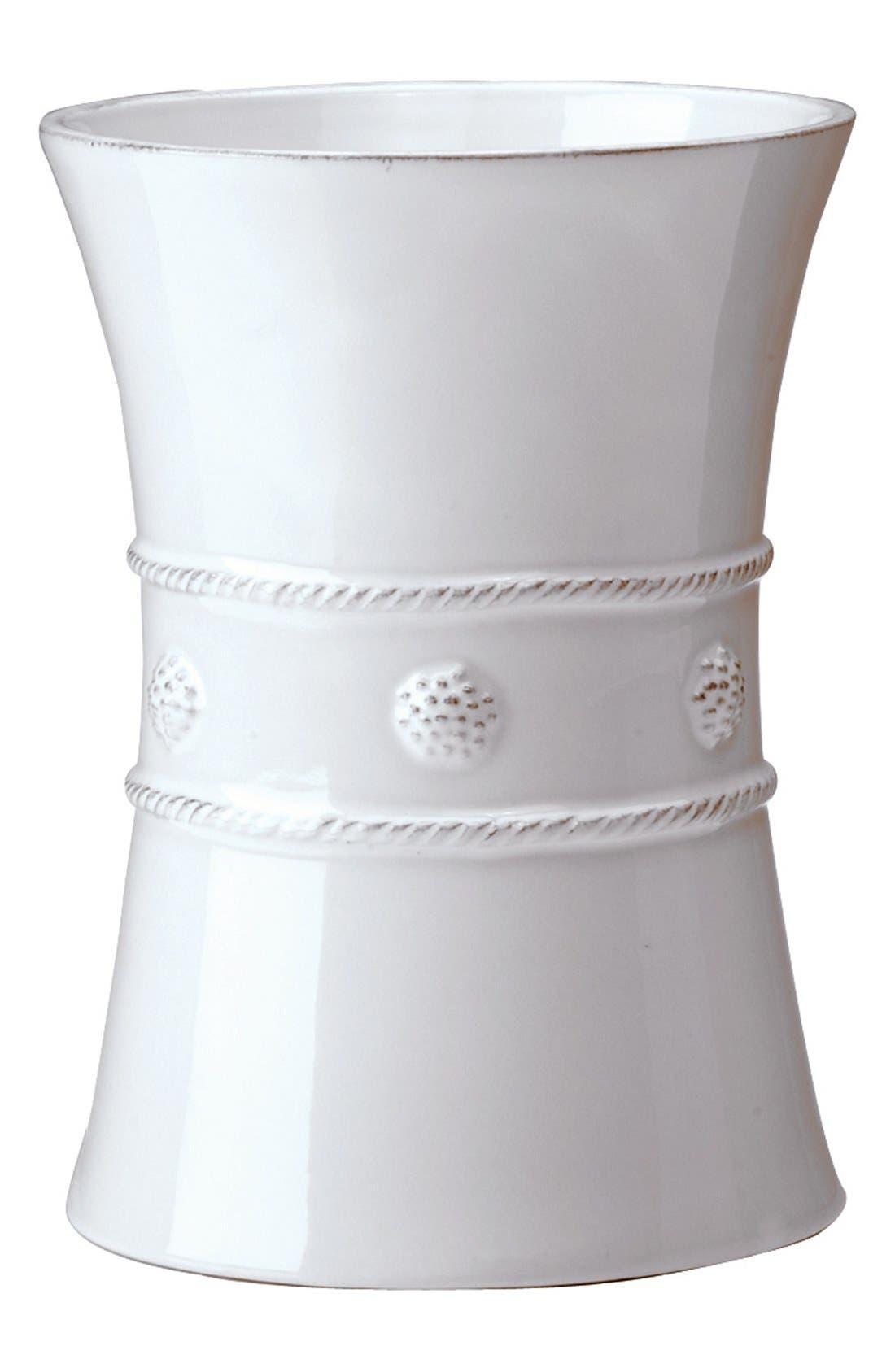 'Berry and Thread' Ceramic Utensil Crock,                         Main,                         color, Whitewash