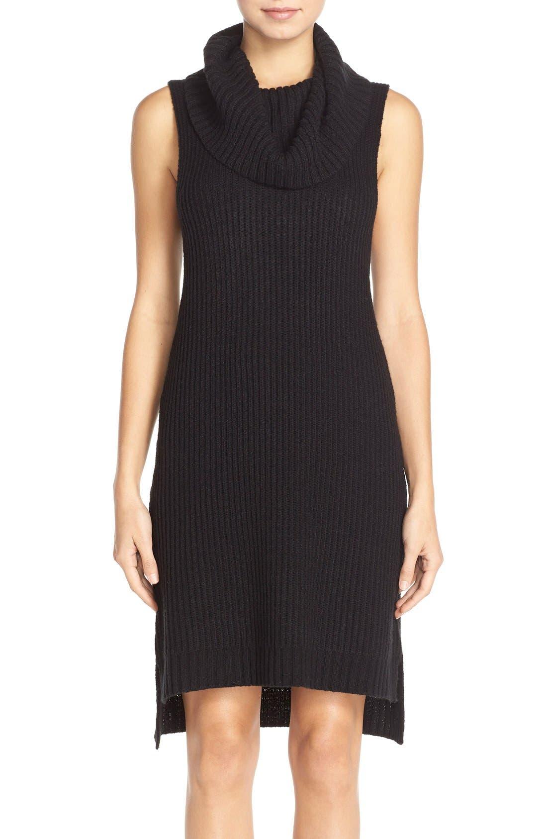 'Marisa' Turtleneck Sweater Dress,                         Main,                         color, Black
