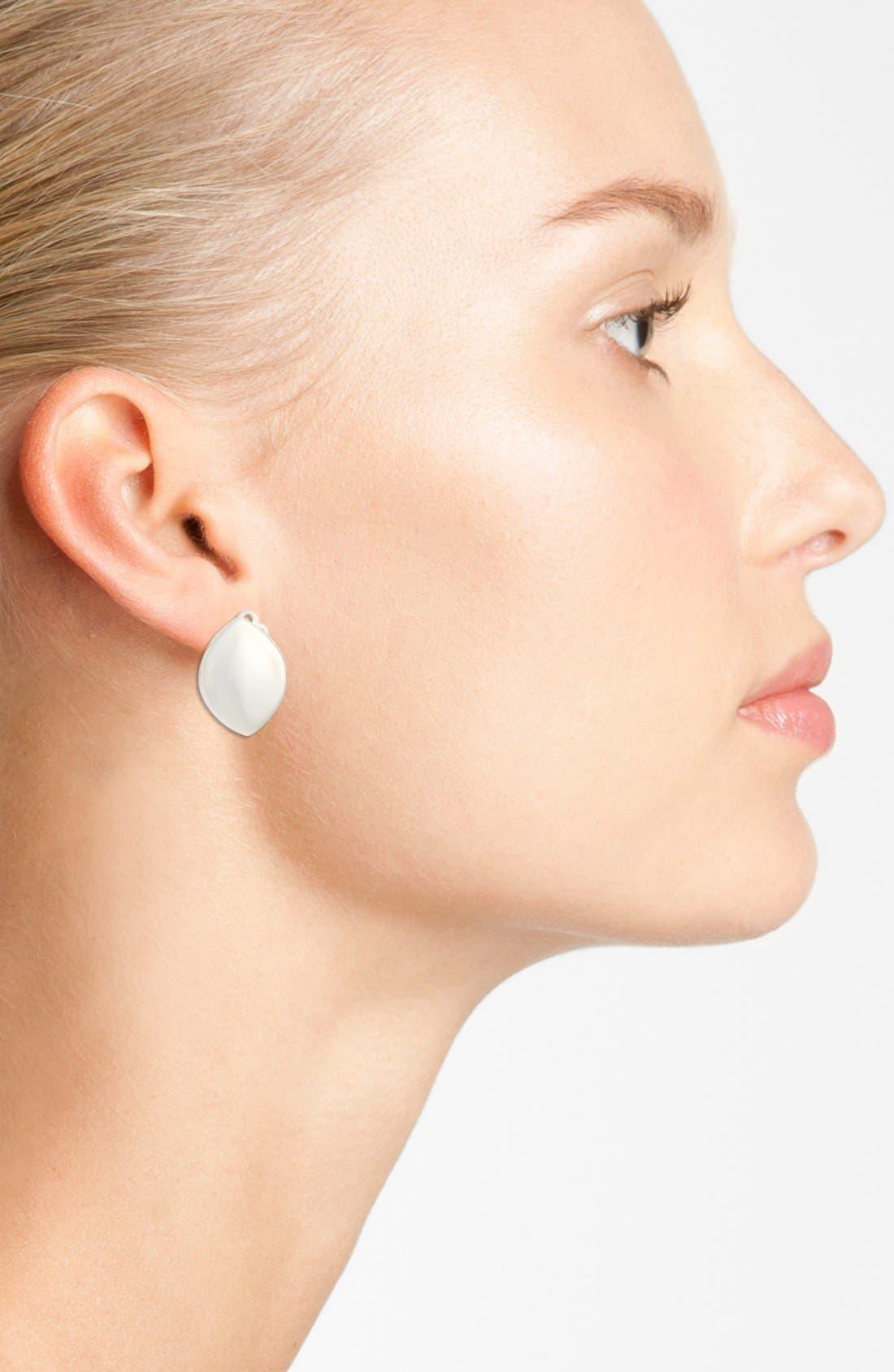 Alternate Image 2  - Simon Sebbag'Leaf' Sterling Silver Clip Earrings