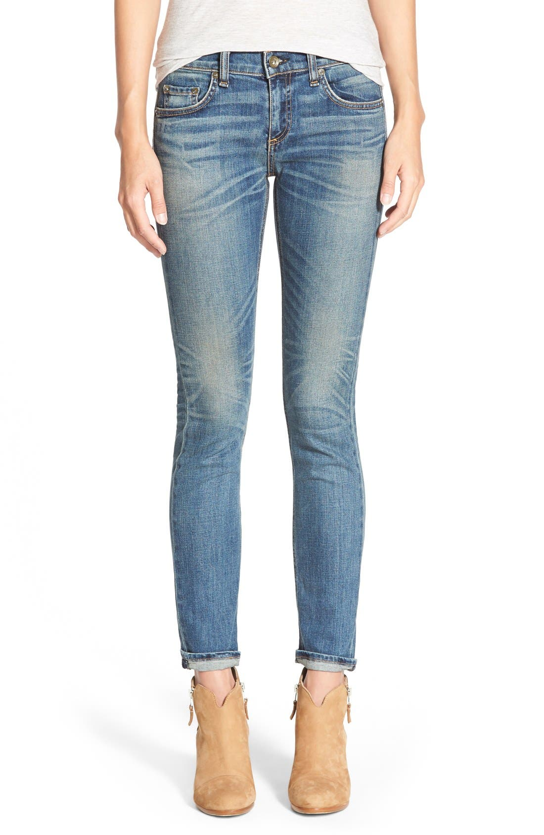 Alternate Image 1 Selected - rag & bone/JEAN 'The Dre' Slim Fit Boyfriend Jeans (Ada)