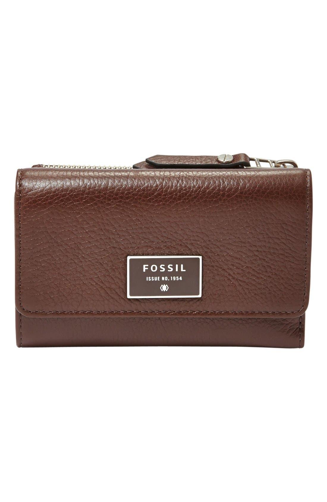 Main Image - Fossil 'Dawson' Flap Wallet