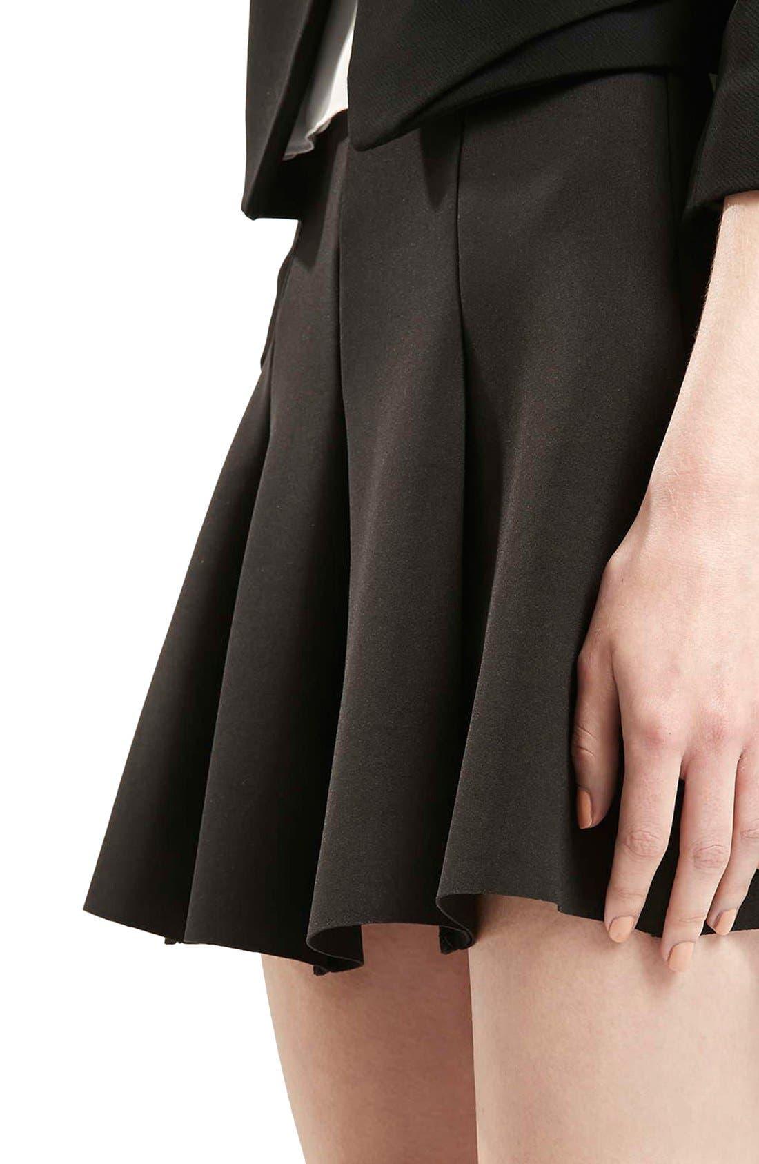 Alternate Image 5  - Topshop Flippy Pleated Miniskirt (Petite)