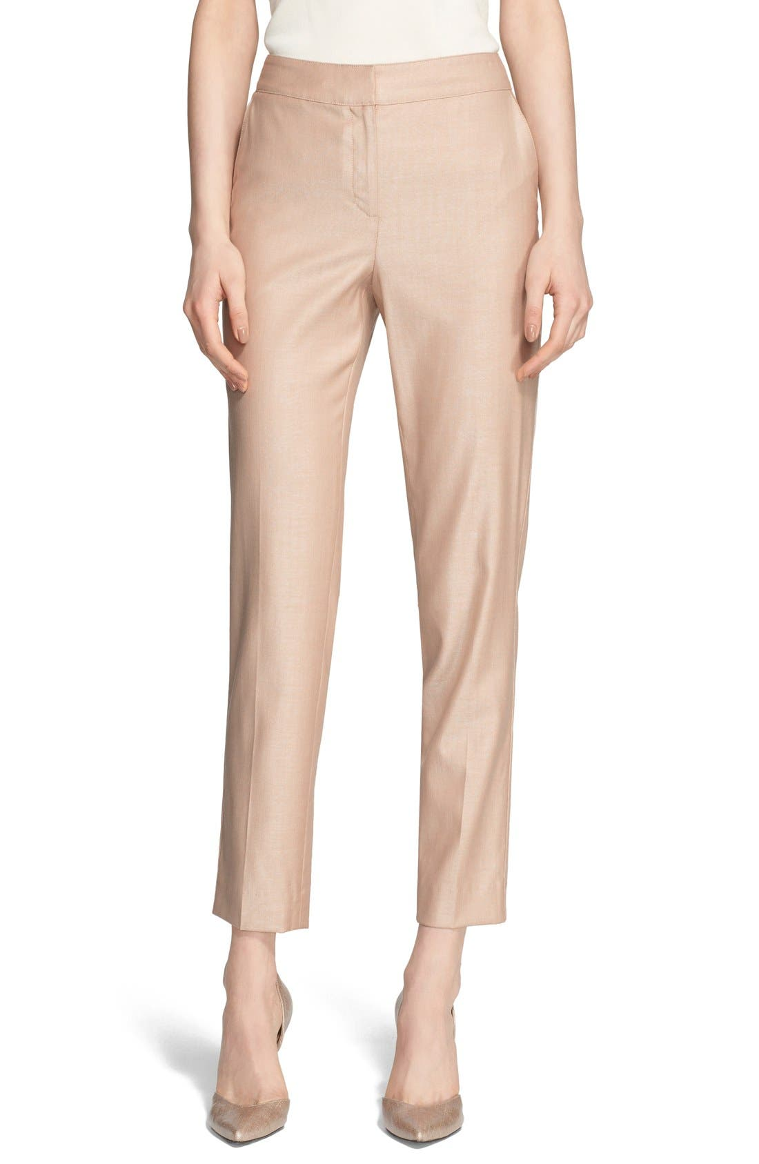 Alternate Image 1 Selected - St. John Collection 'Emma' Straight Leg Suiting Pants