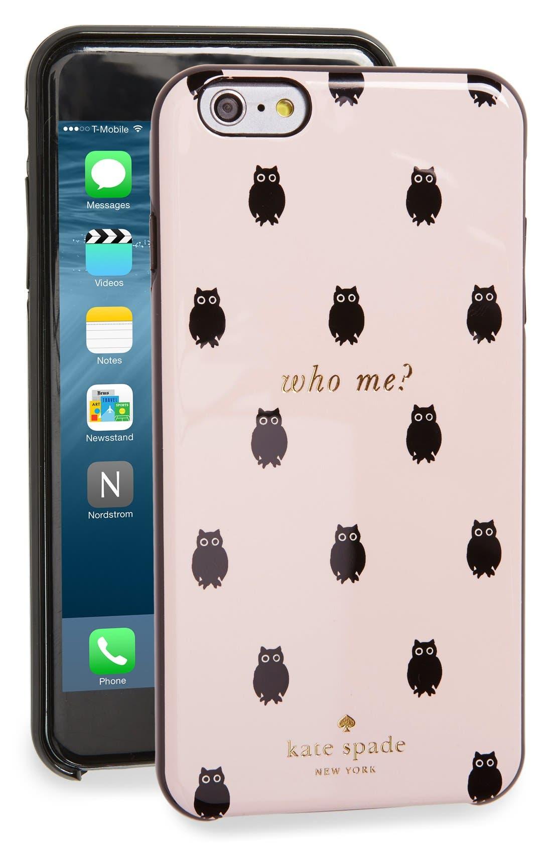 Alternate Image 1 Selected - katespadenew york'who me?' iPhone 6 Plus & 6s Pluscase (Nordstrom Exclusive)
