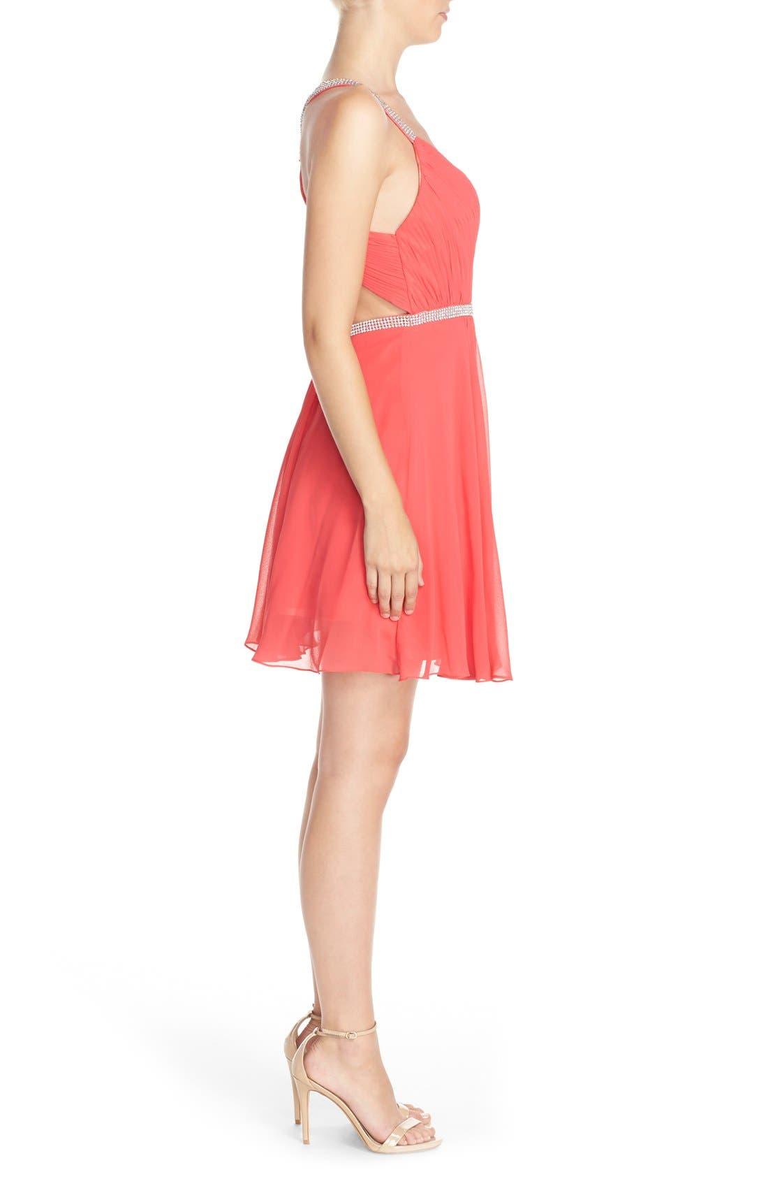 Alternate Image 3  - FavianaEmbellished Chiffon Fit& Flare Dress