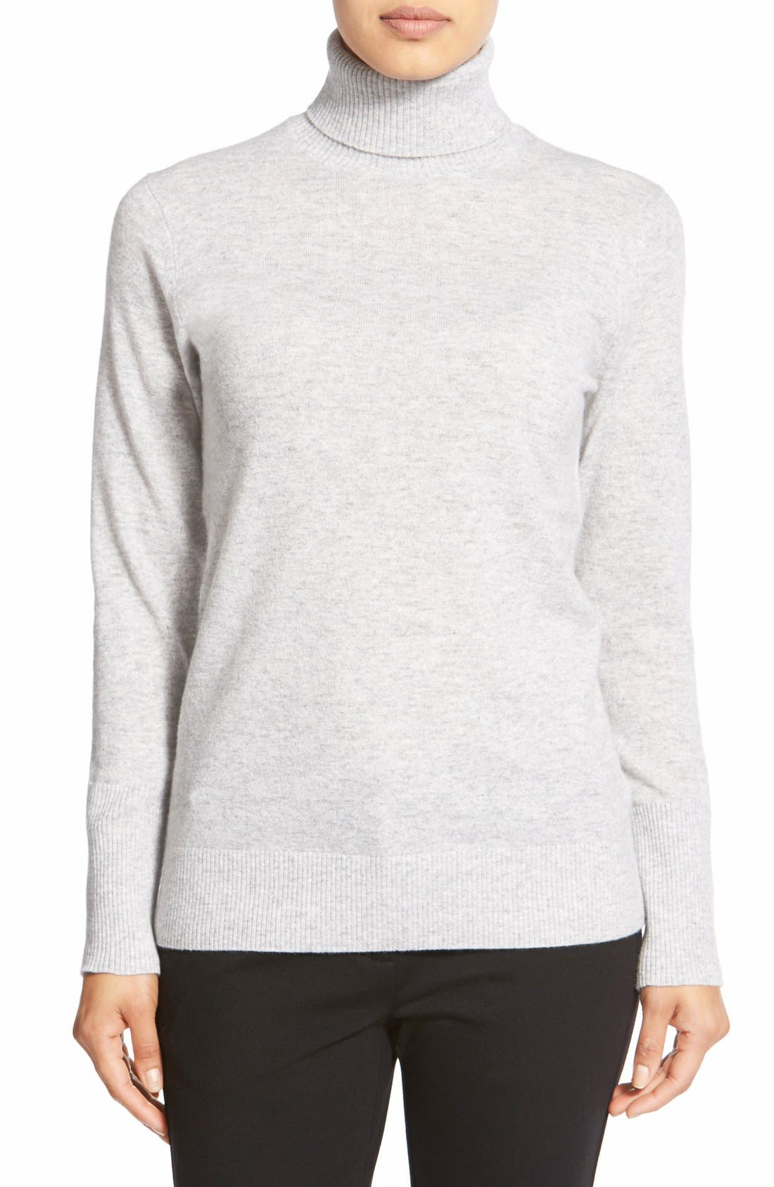 Alternate Image 1 Selected - Nordstrom Collection Cashmere Turtleneck Sweater
