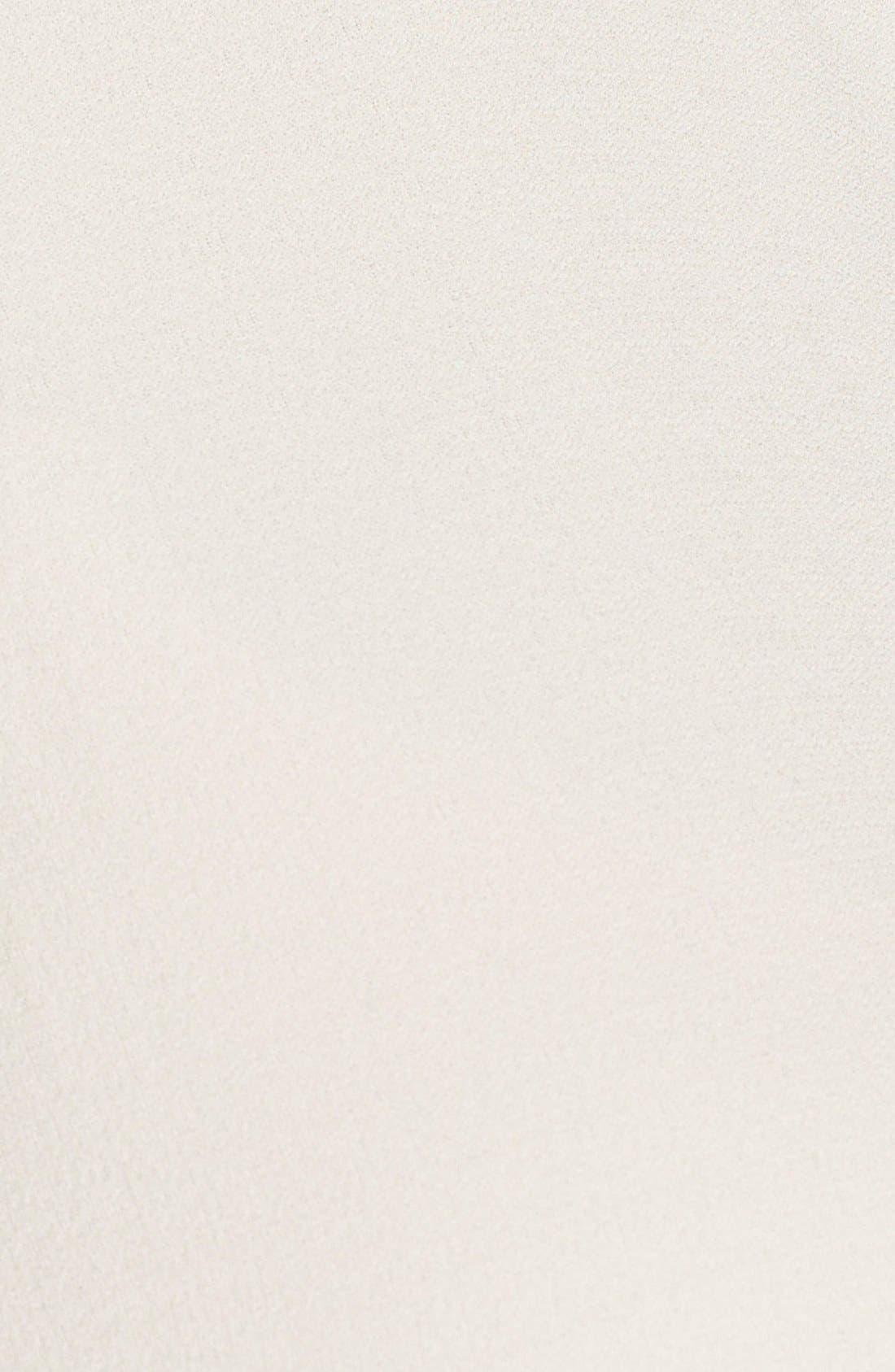 Alternate Image 5  - Eileen Fisher Mandarin Collar Silk Crepe Tunic Shirt (Plus Size)