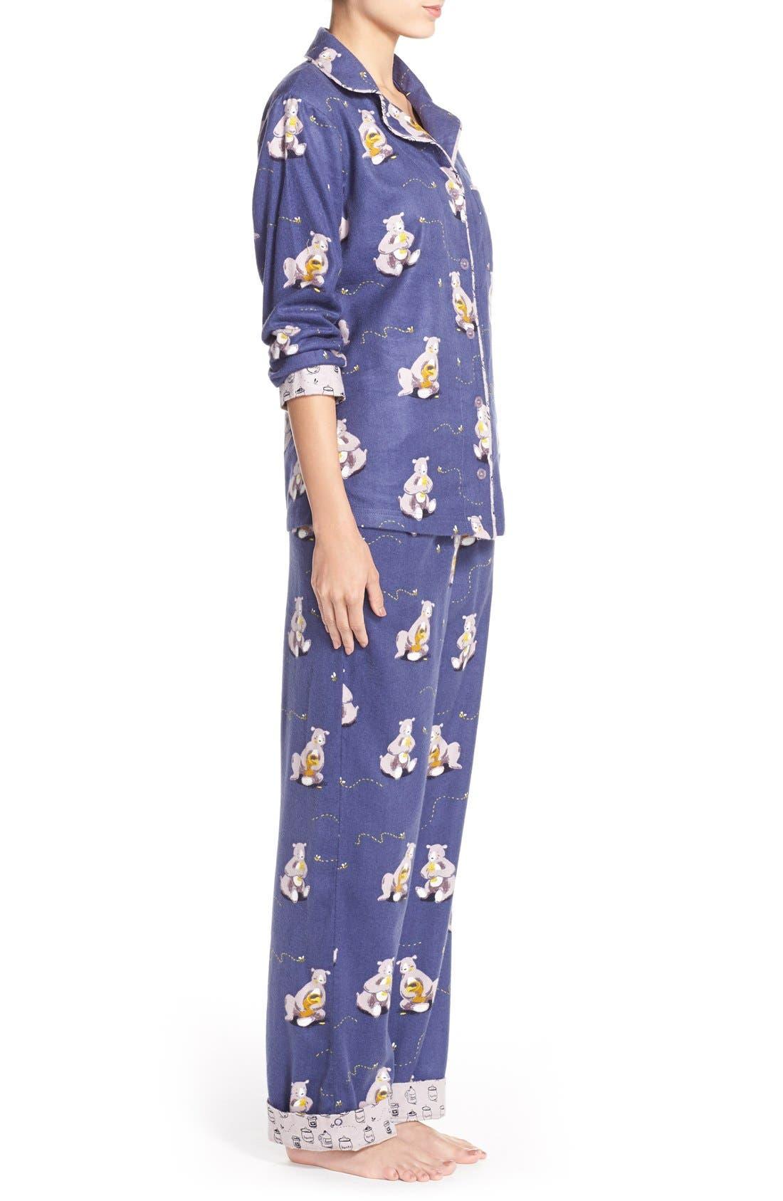 Alternate Image 3  - Munki MunkiFlannel Pajamas